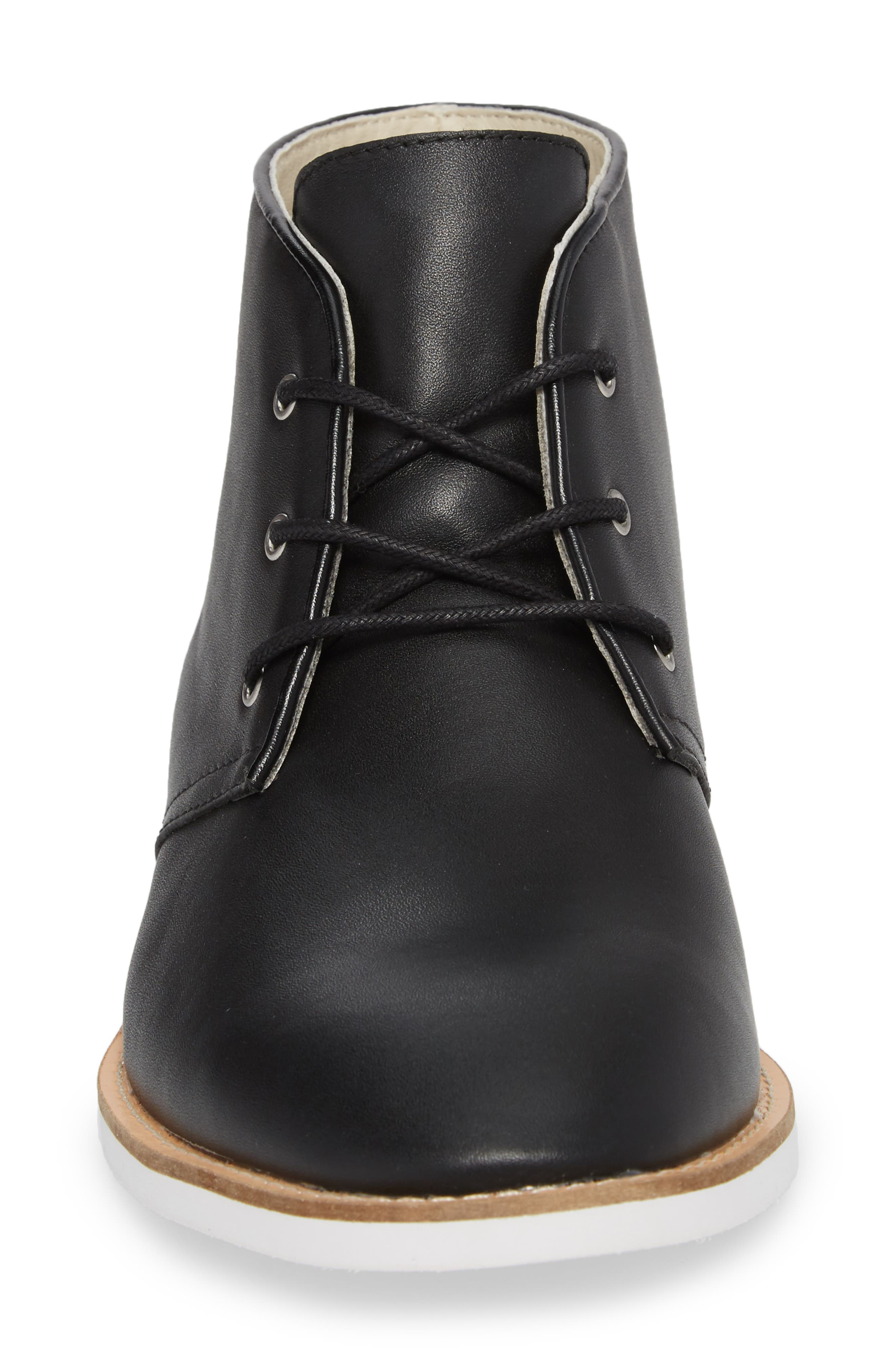 Albe Chukka Boot,                             Alternate thumbnail 4, color,                             Black Leather