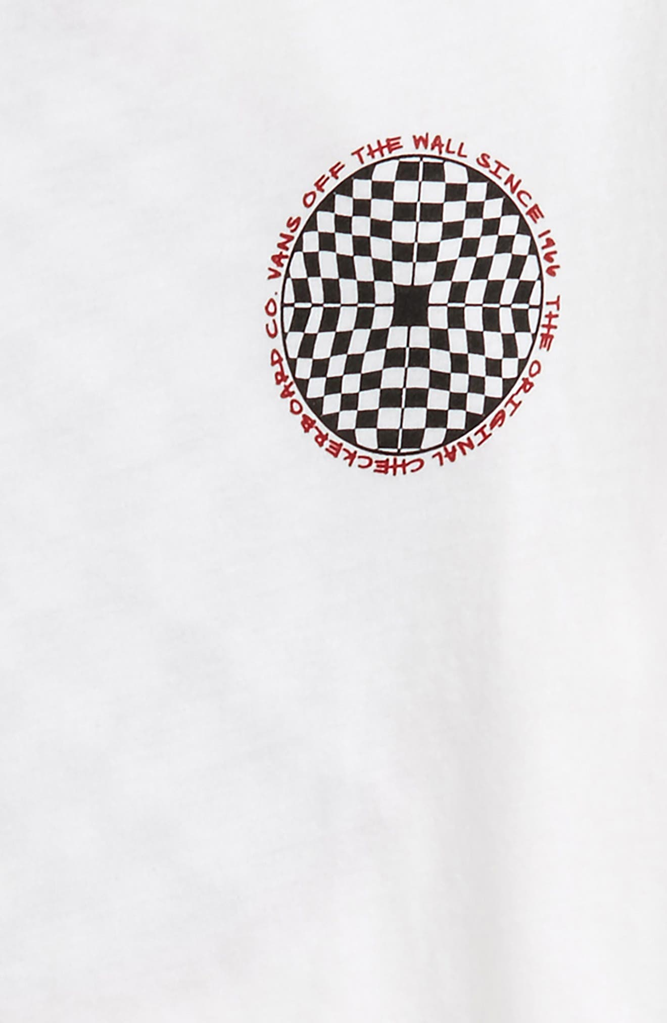 Checkered Graphic T-Shirt,                             Alternate thumbnail 3, color,                             White