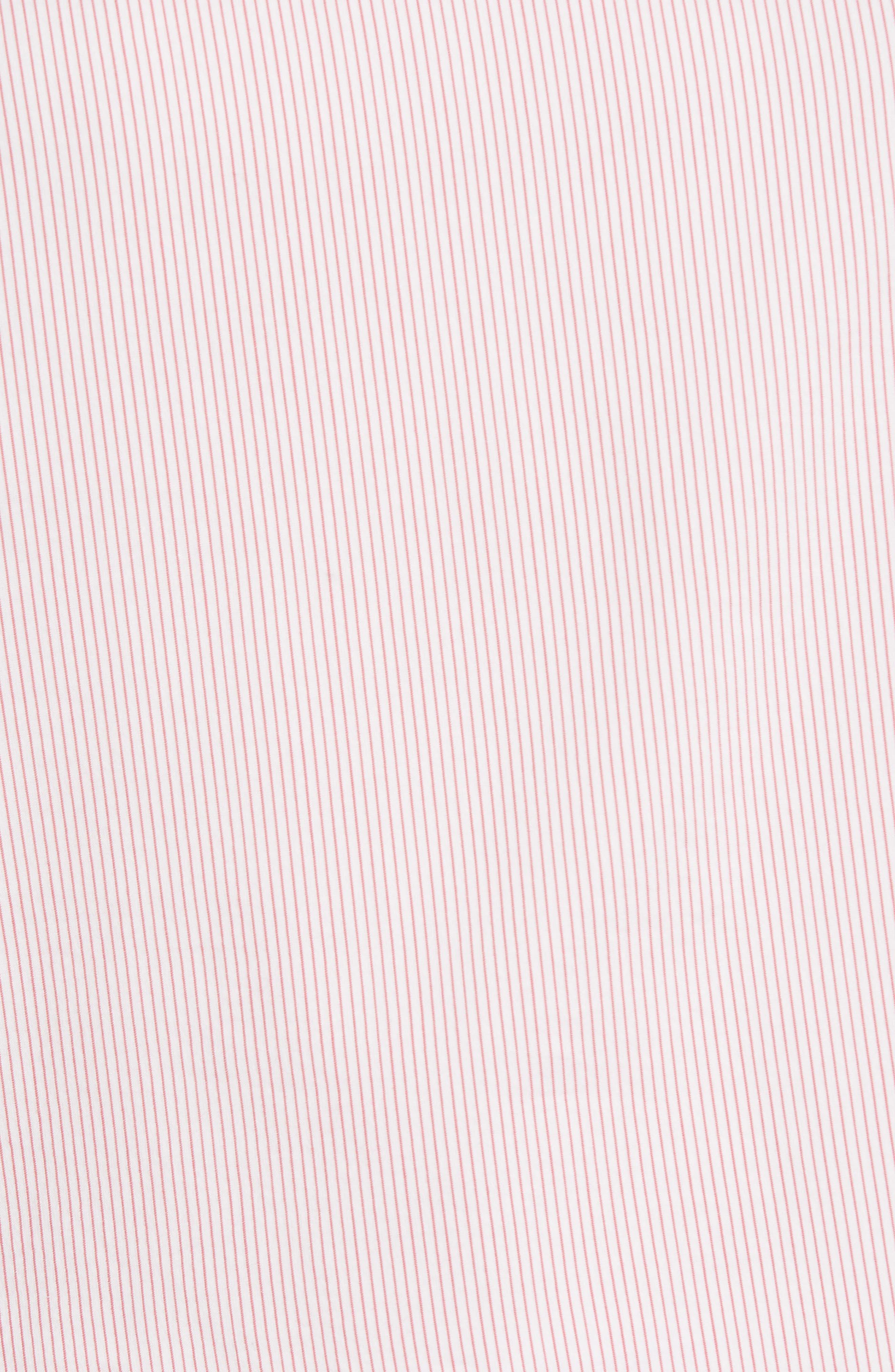 One-Shoulder Shirt,                             Alternate thumbnail 6, color,                             Pink Honey Chic Stripe