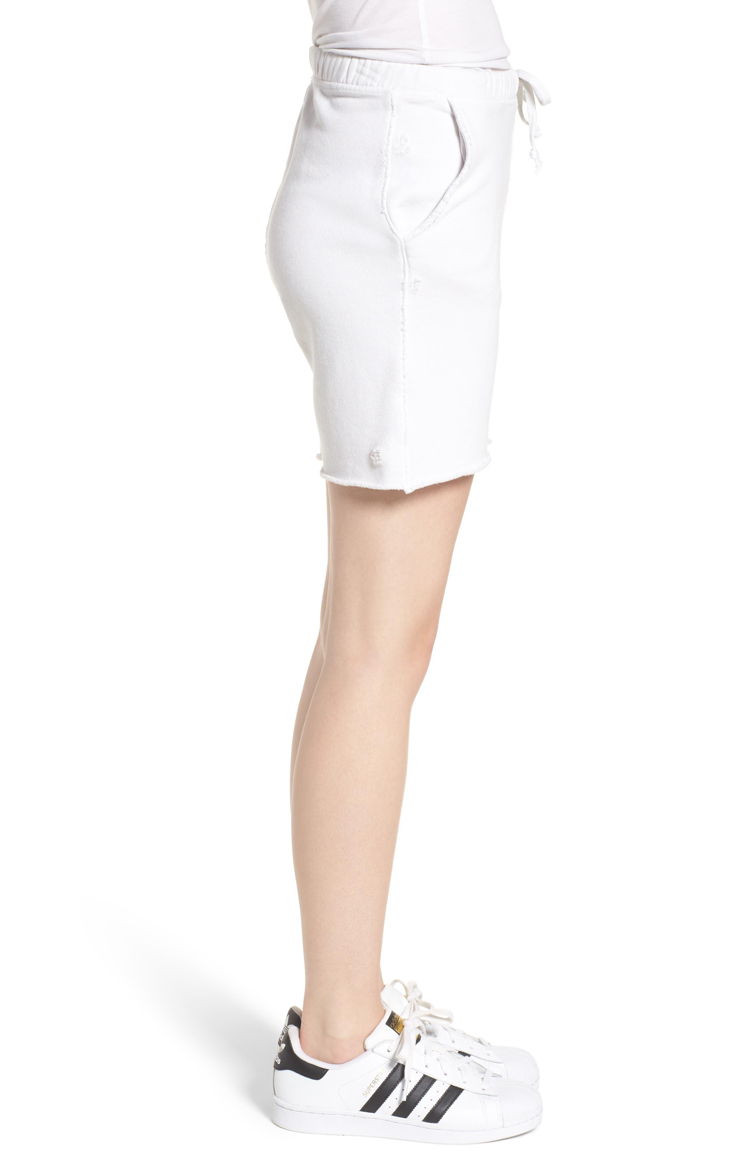 Fleece Shorts,                             Alternate thumbnail 3, color,                             Dirty White 10 Yr Vintage
