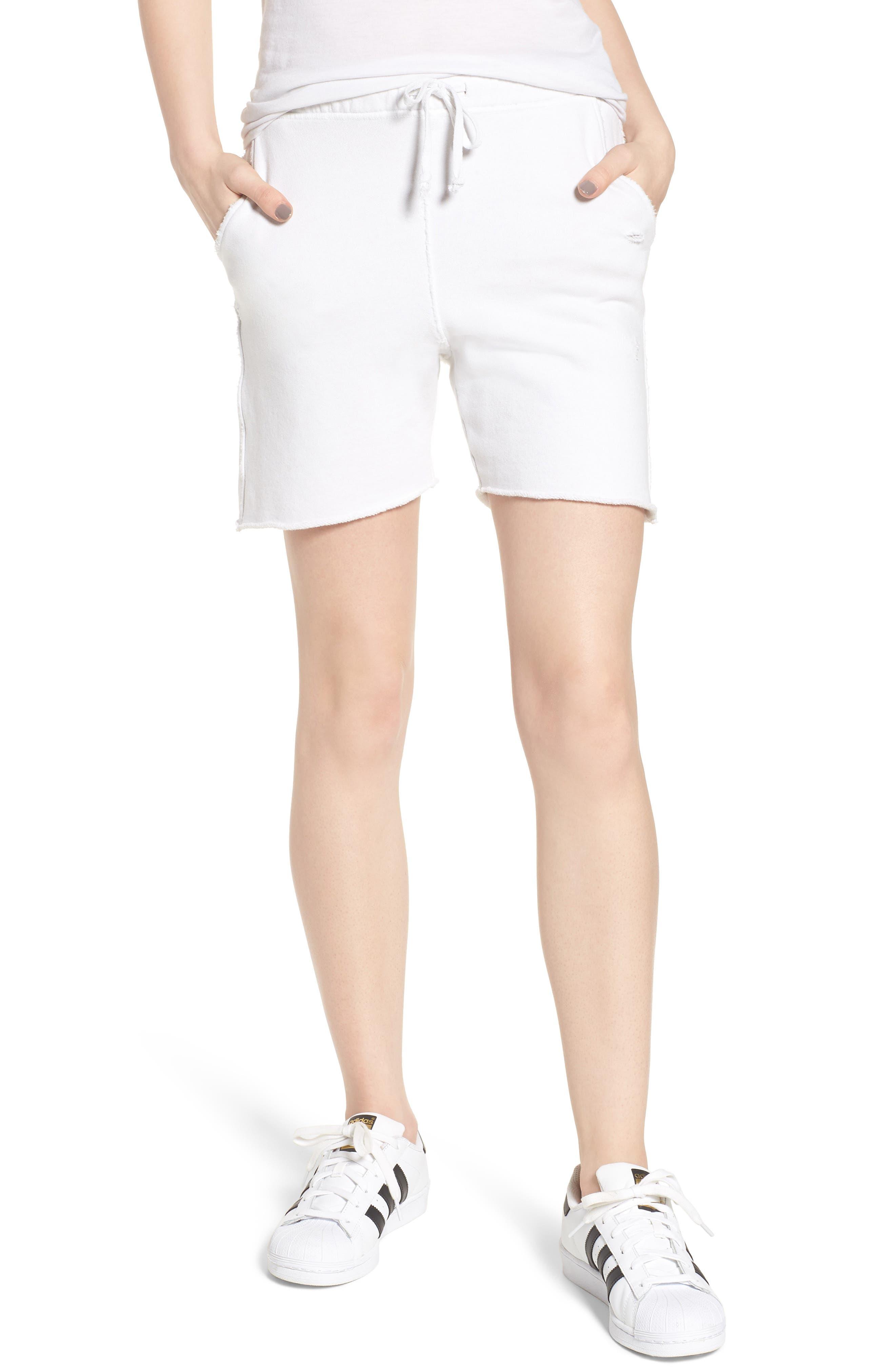 Fleece Shorts,                             Main thumbnail 1, color,                             Dirty White 10 Yr Vintage
