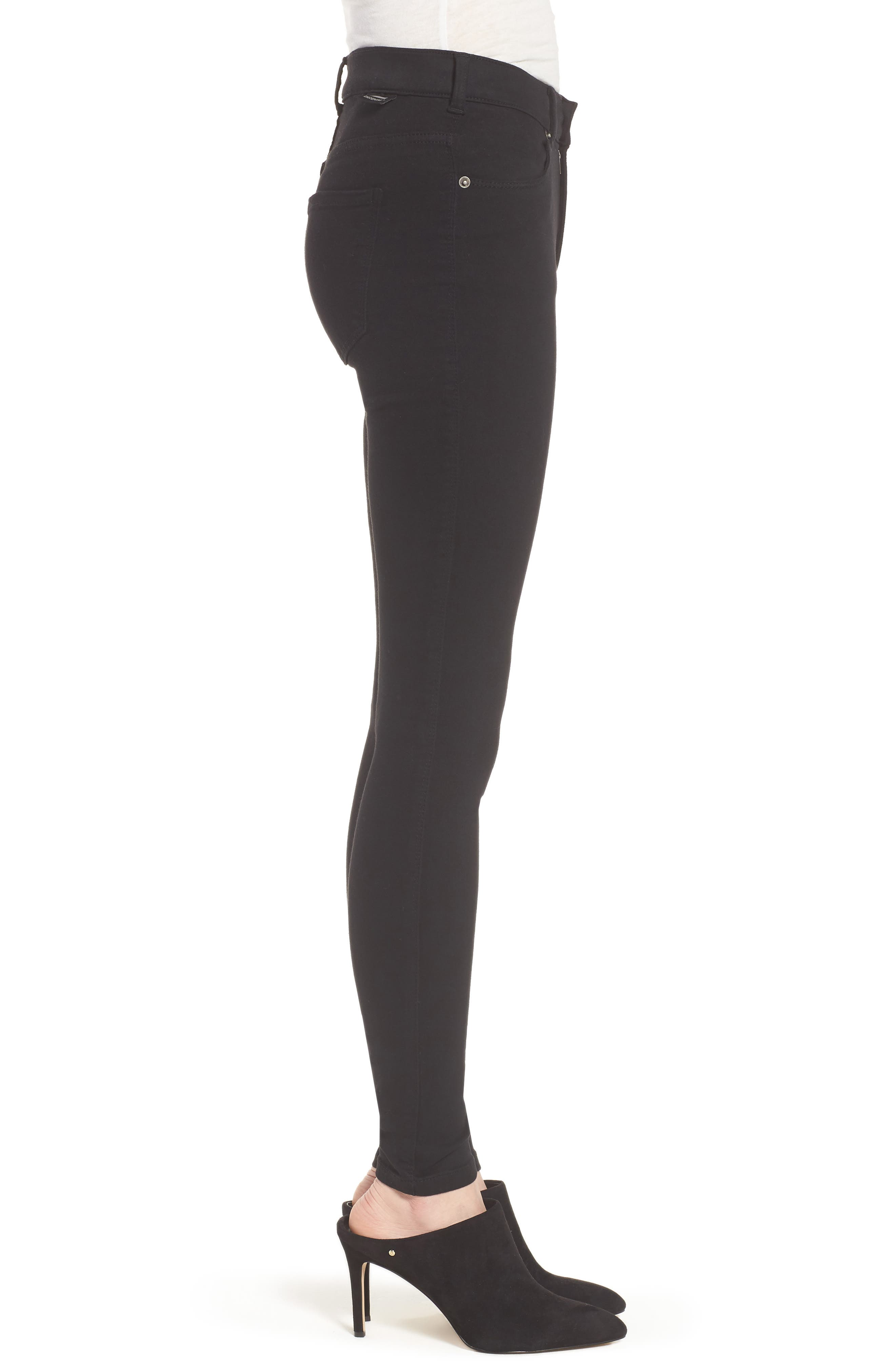 Lexy Skinny Jeans,                             Alternate thumbnail 3, color,                             Black