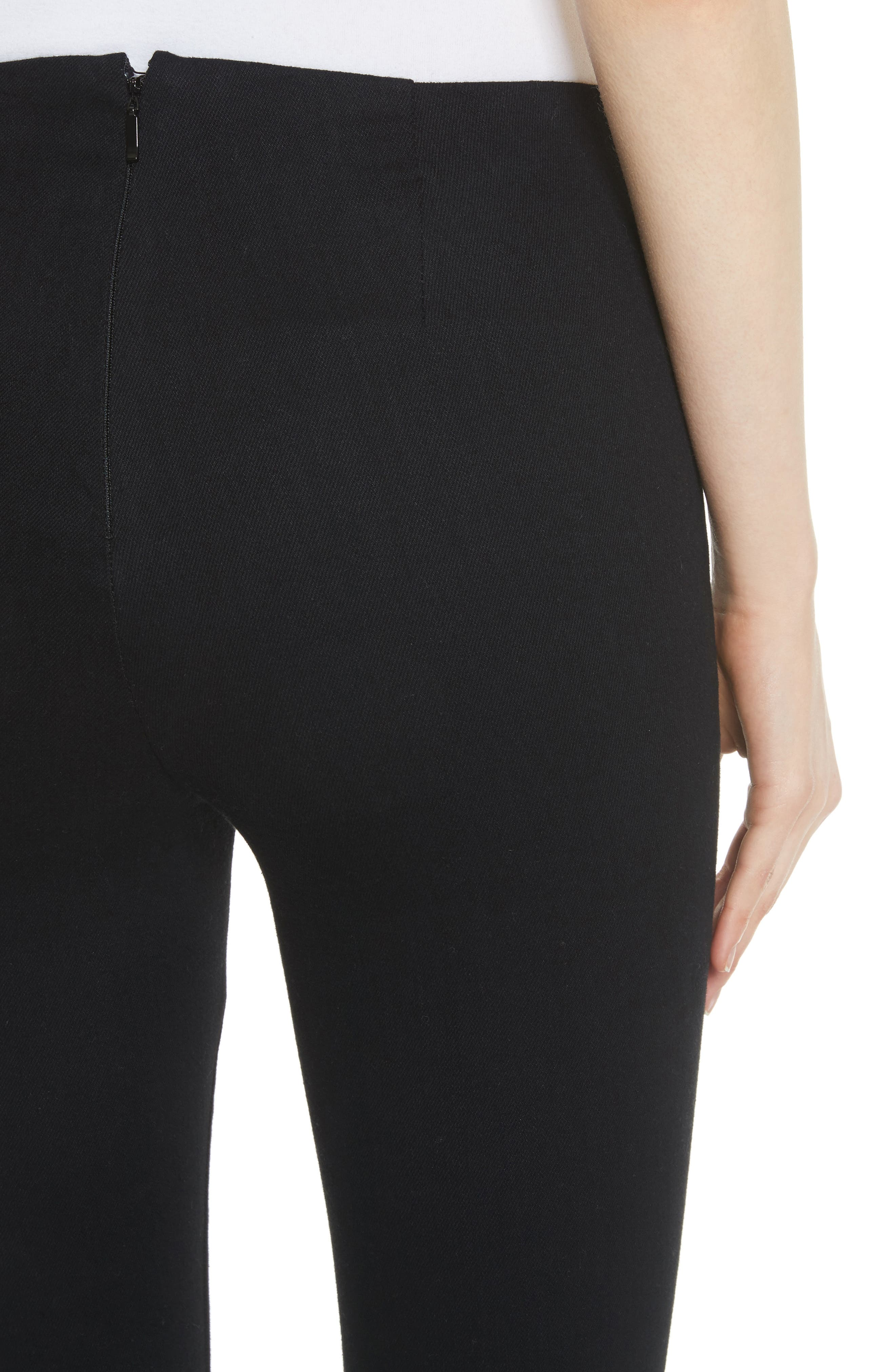 Hina High Rise Crop Pants,                             Alternate thumbnail 4, color,                             Black