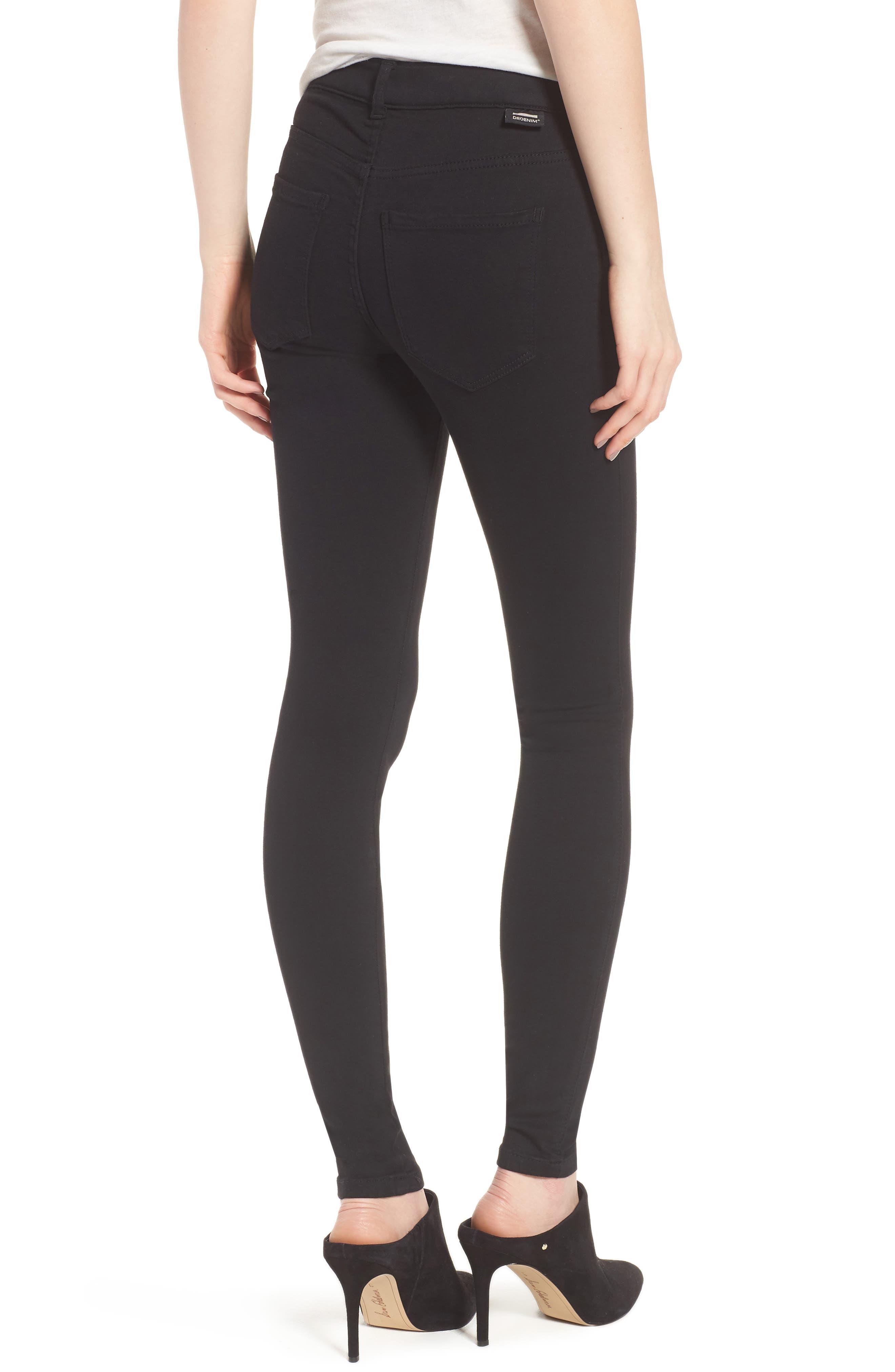 Lexy Skinny Jeans,                             Alternate thumbnail 2, color,                             Black