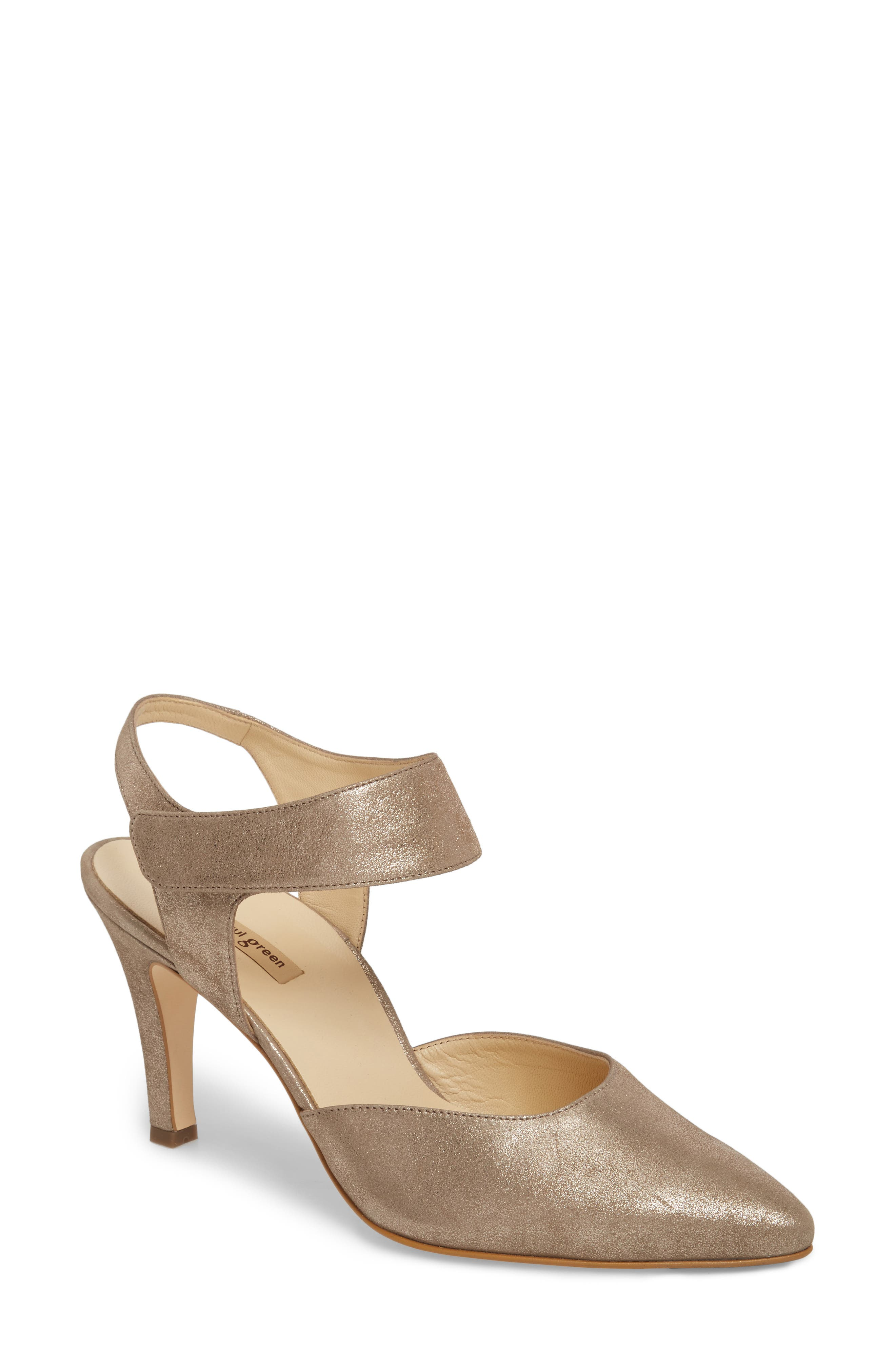 Nicolette Pointy Toe Pump,                         Main,                         color, Champagne Metallic
