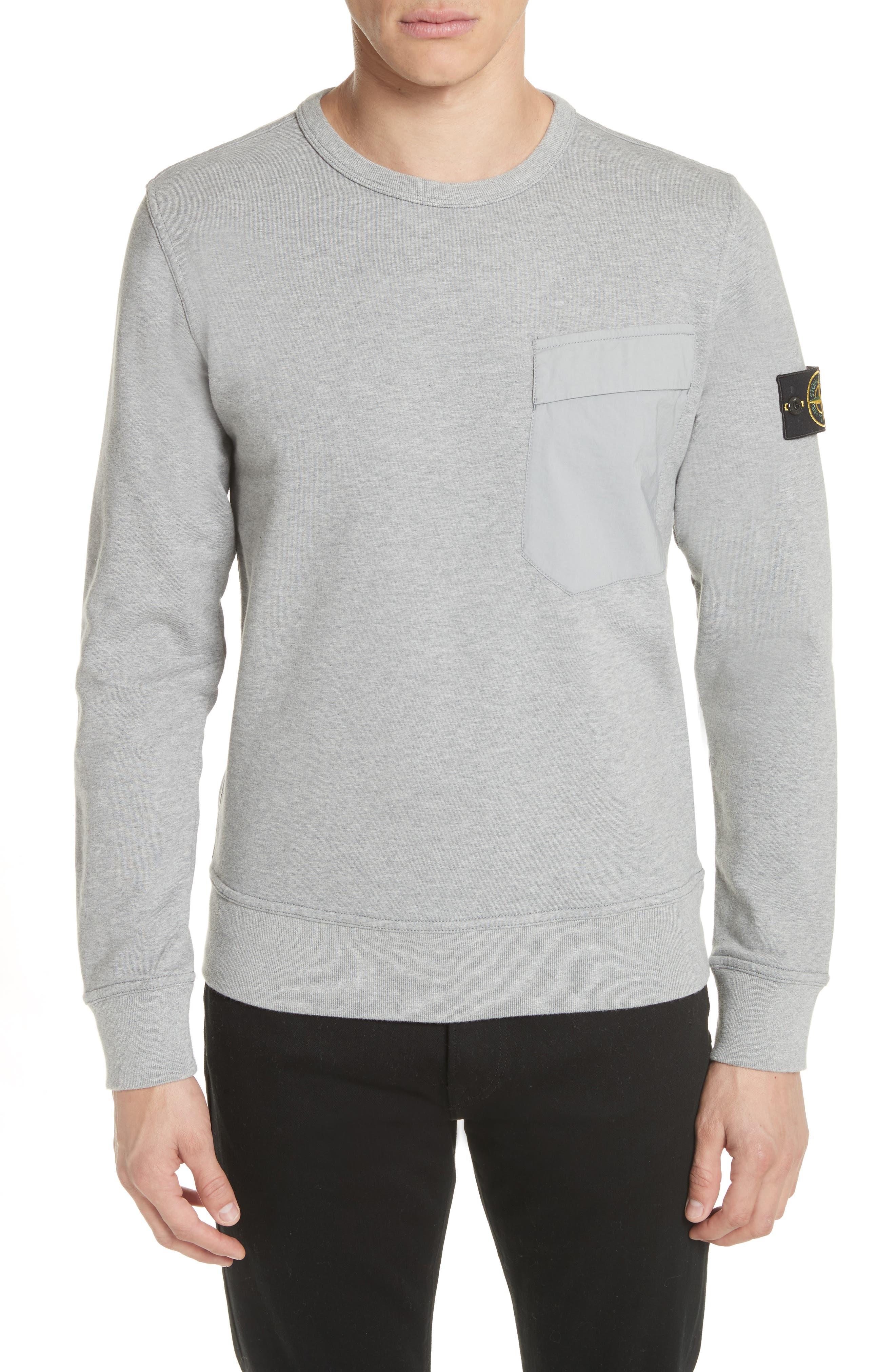 Pocket Sweatshirt,                         Main,                         color, Grey