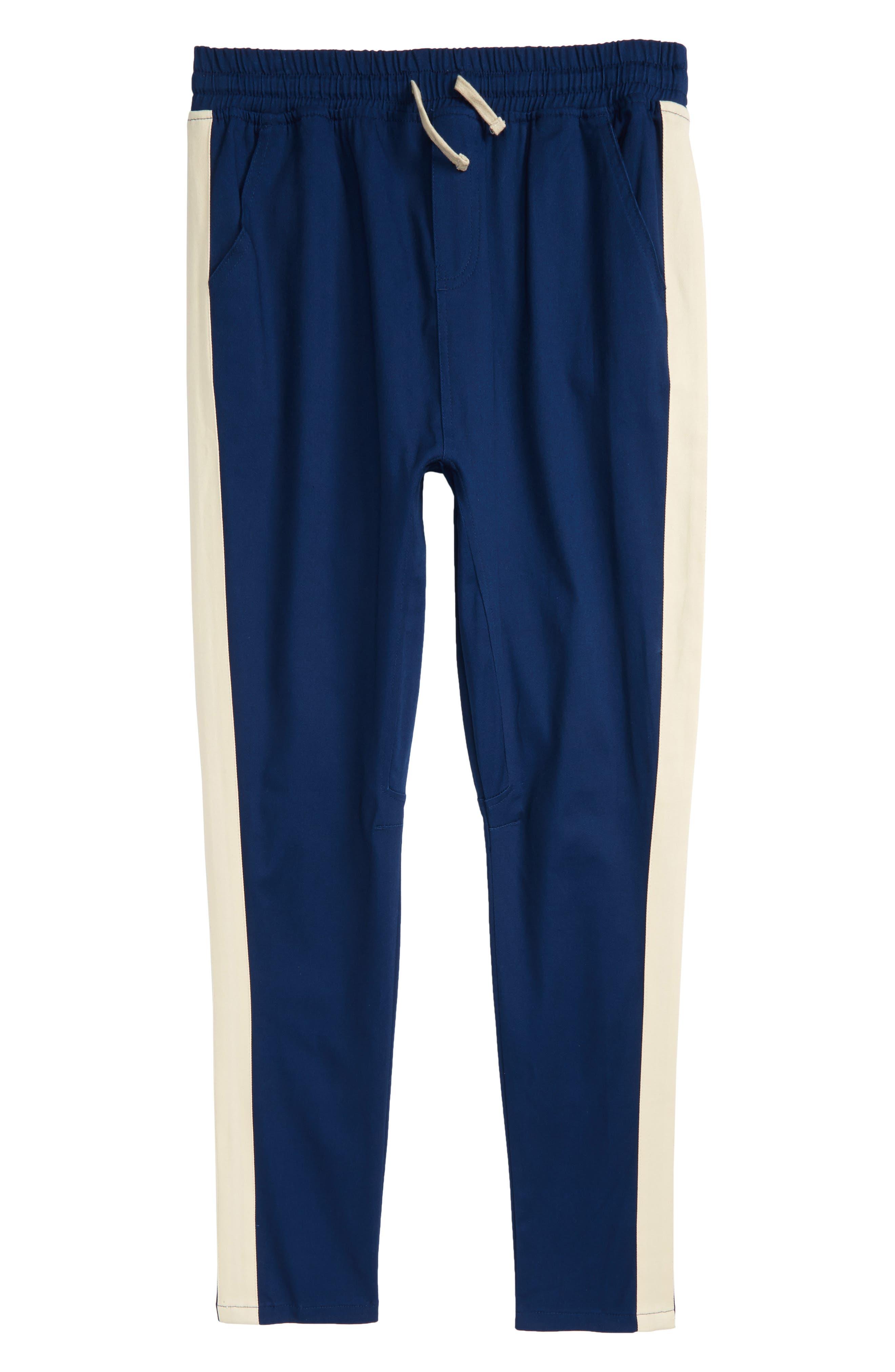 Gusset Track Pants,                         Main,                         color, Uniform Blue