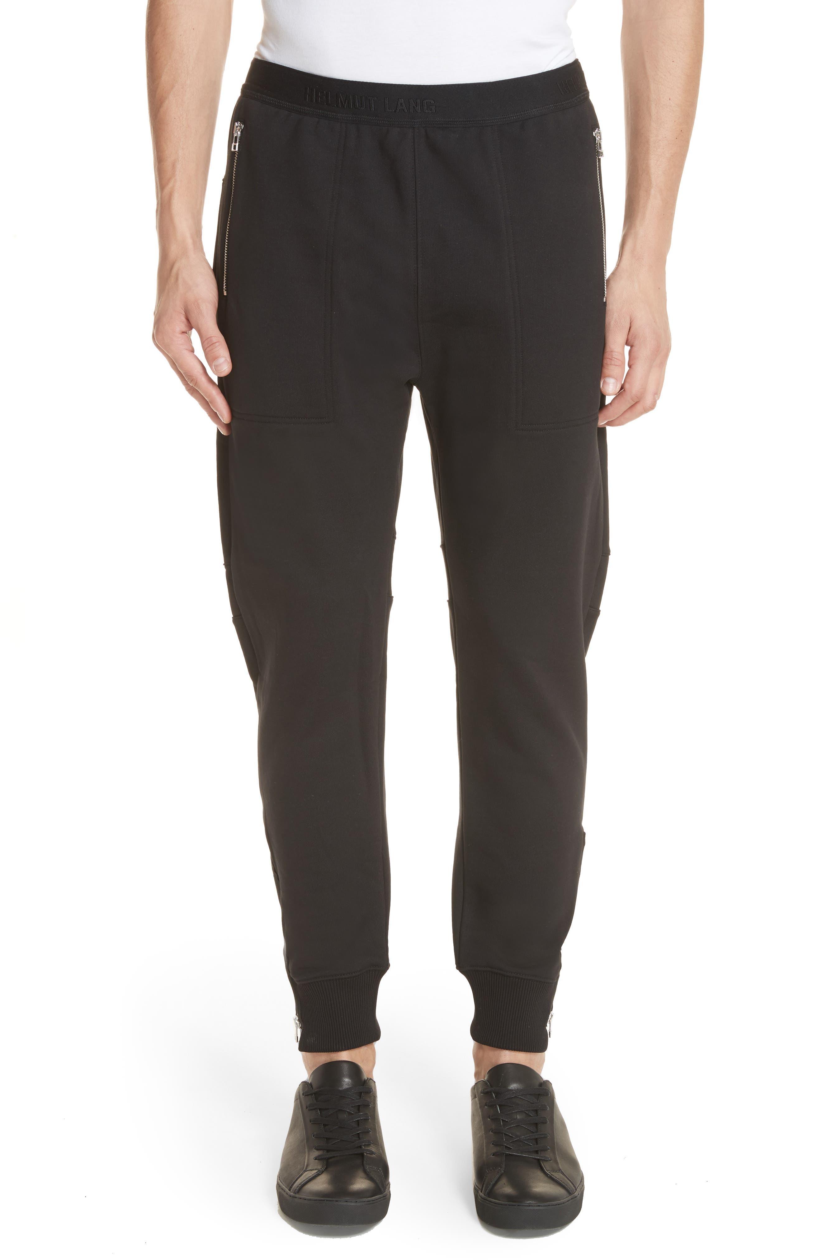 Zip Jogger Pants,                             Main thumbnail 1, color,                             Black