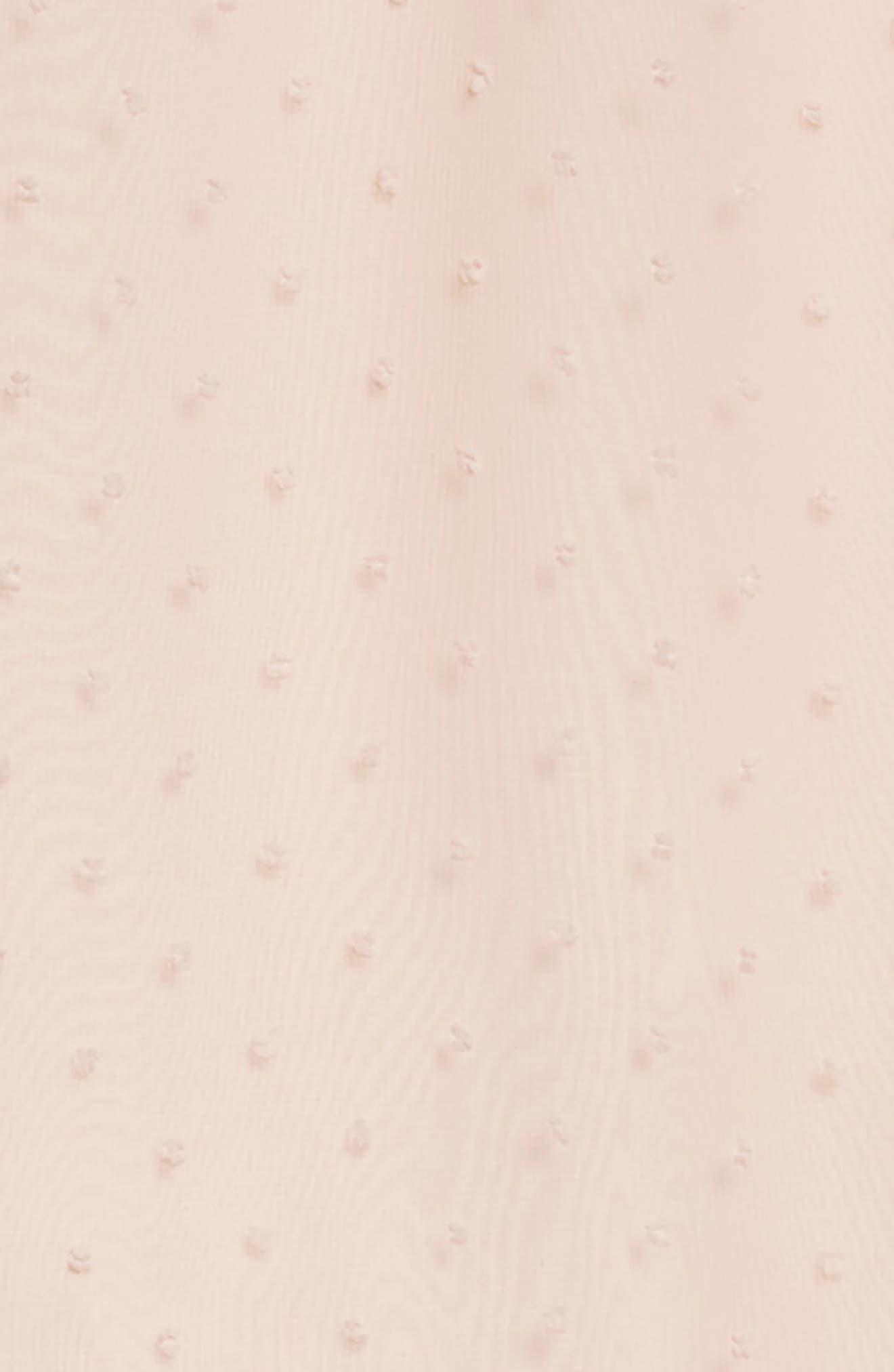 Alternate Image 3  - Soprano Swiss Dot Swing Dress (Big Girls)