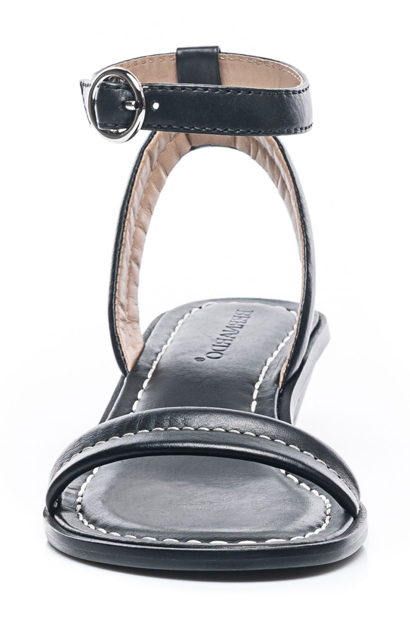 Bernardo Catherine Ankle Strap Sandal,                             Alternate thumbnail 4, color,                             Black Antique