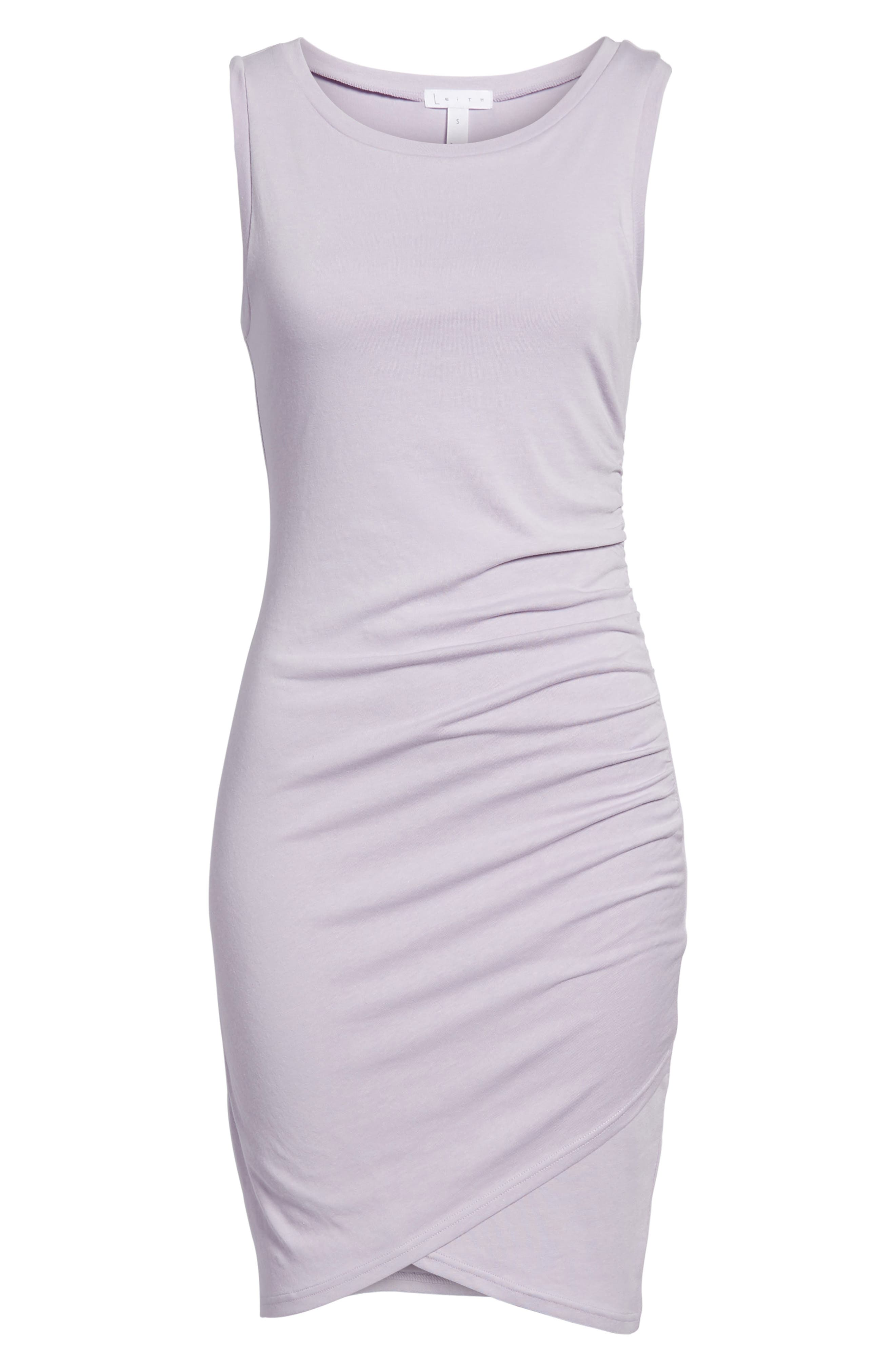 Ruched Body-Con Tank Dress,                             Alternate thumbnail 6, color,                             Purple Petal