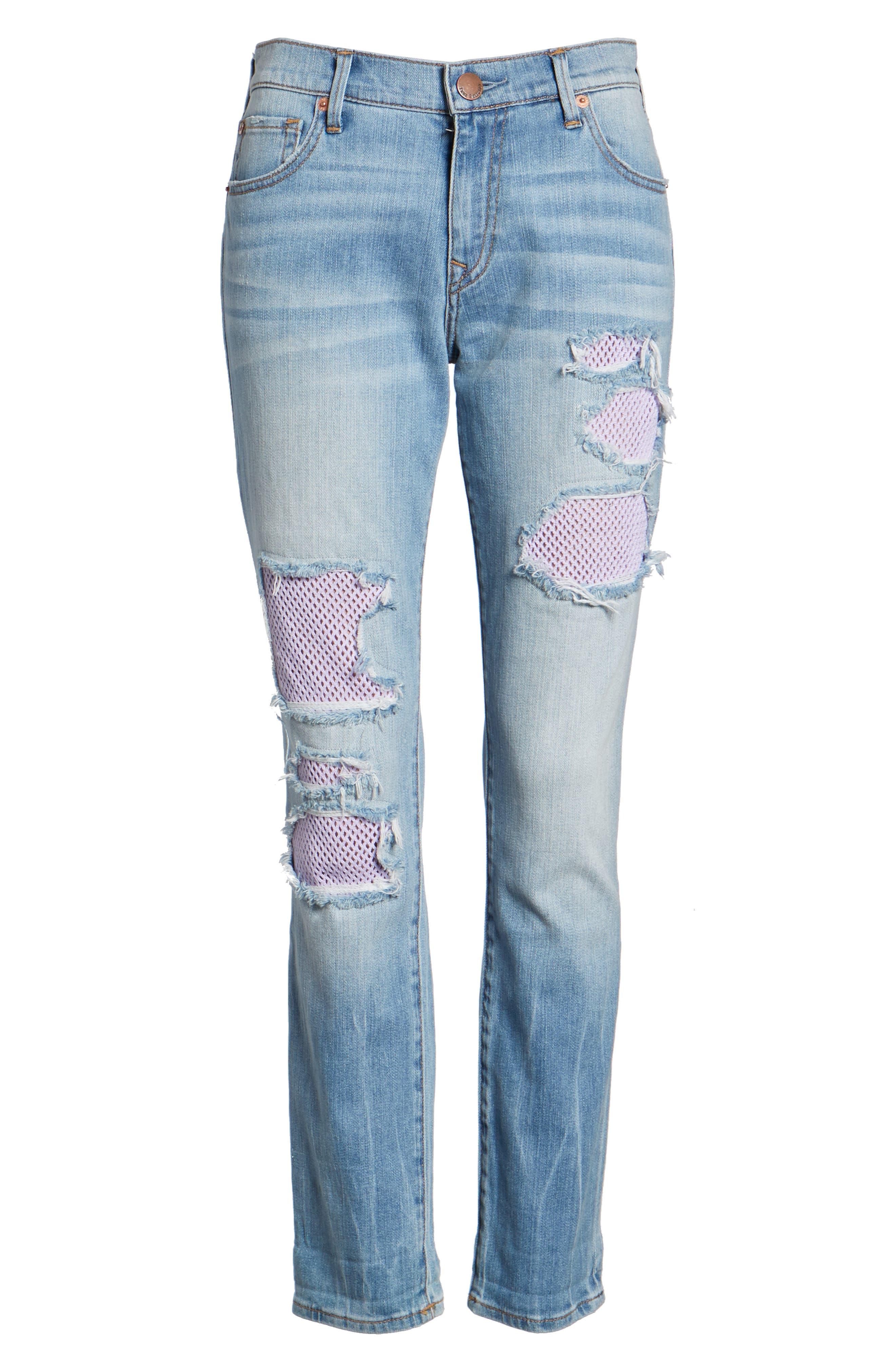 Cameron Slim Boyfriend Jeans,                             Alternate thumbnail 7, color,                             Esgl Second Quarter
