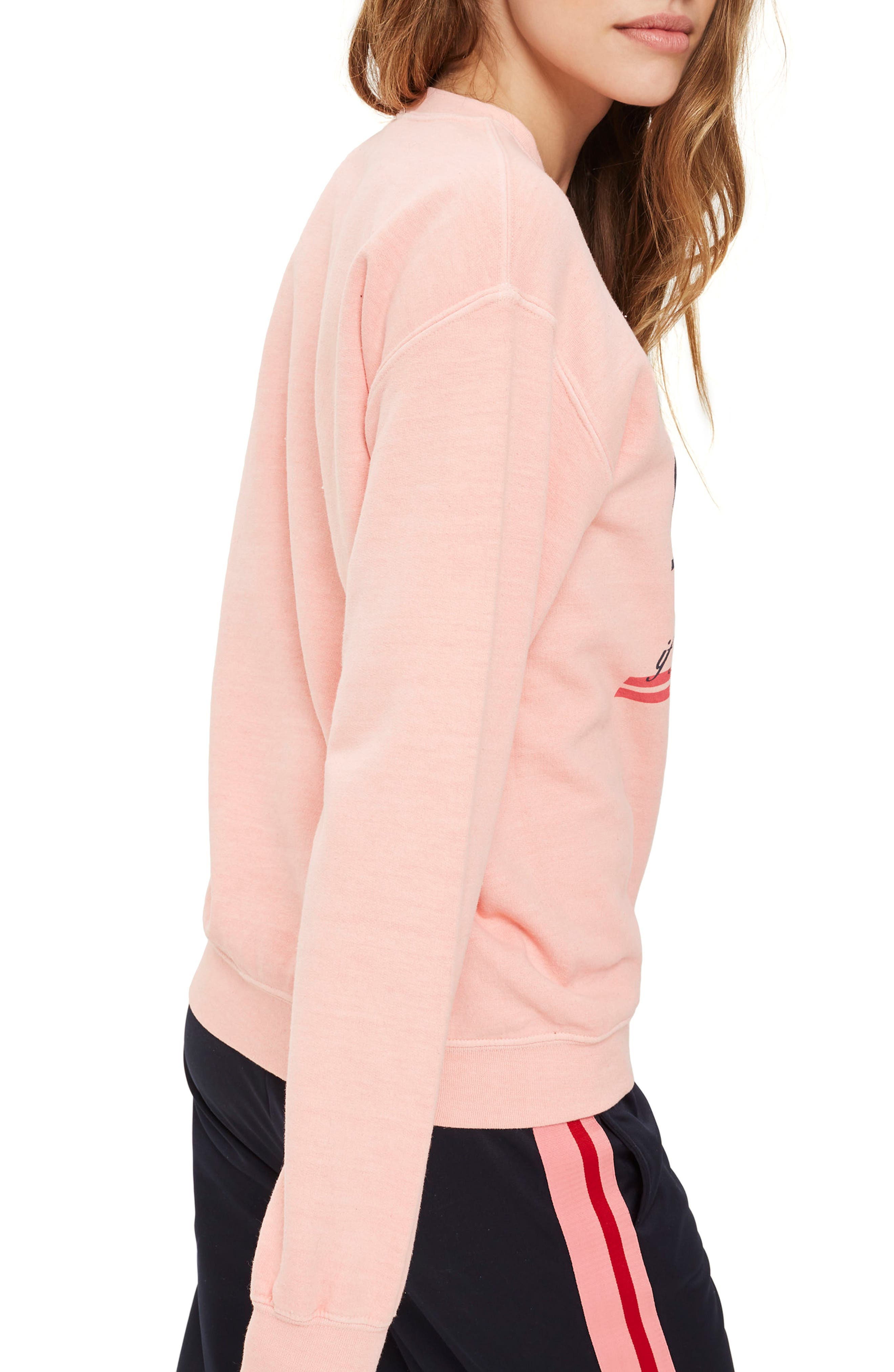 Alternate Image 3  - Topshop Embroidered Amore Sweatshirt