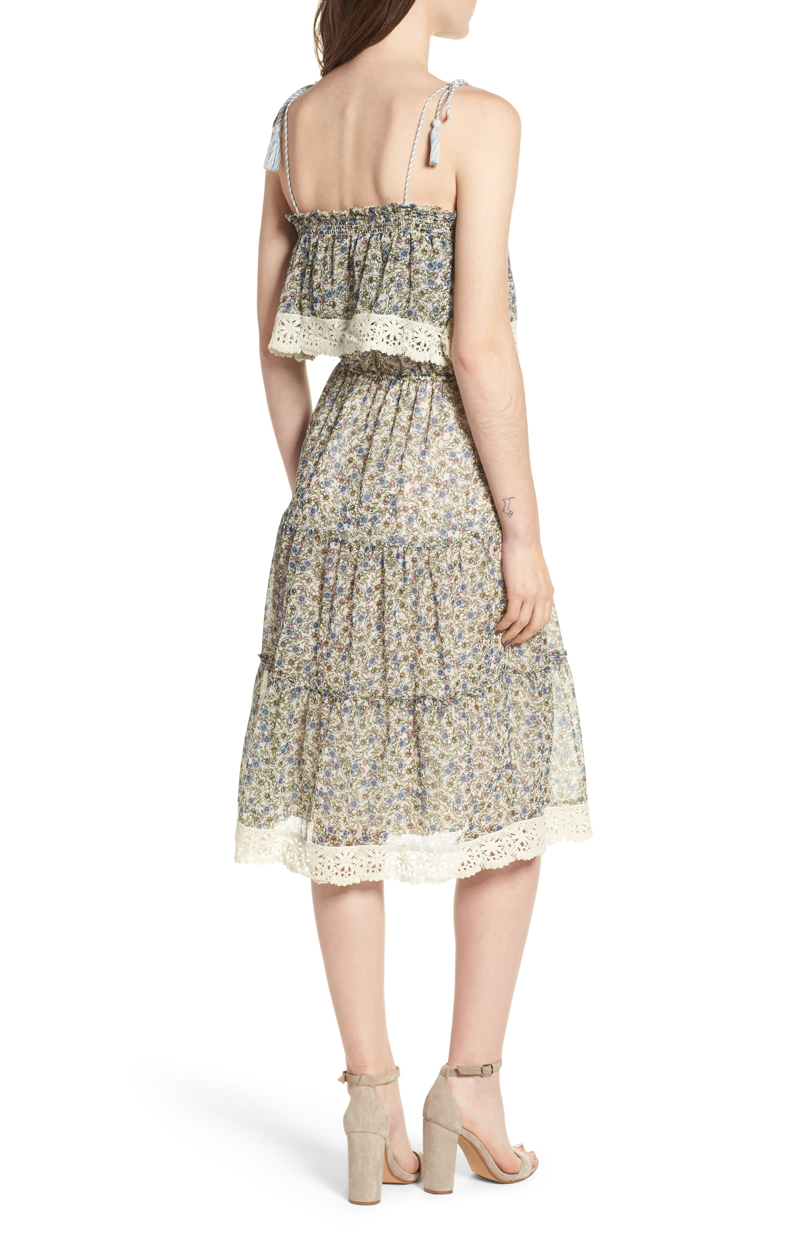 Deda Popover Dress,                             Alternate thumbnail 2, color,                             Oatmeal