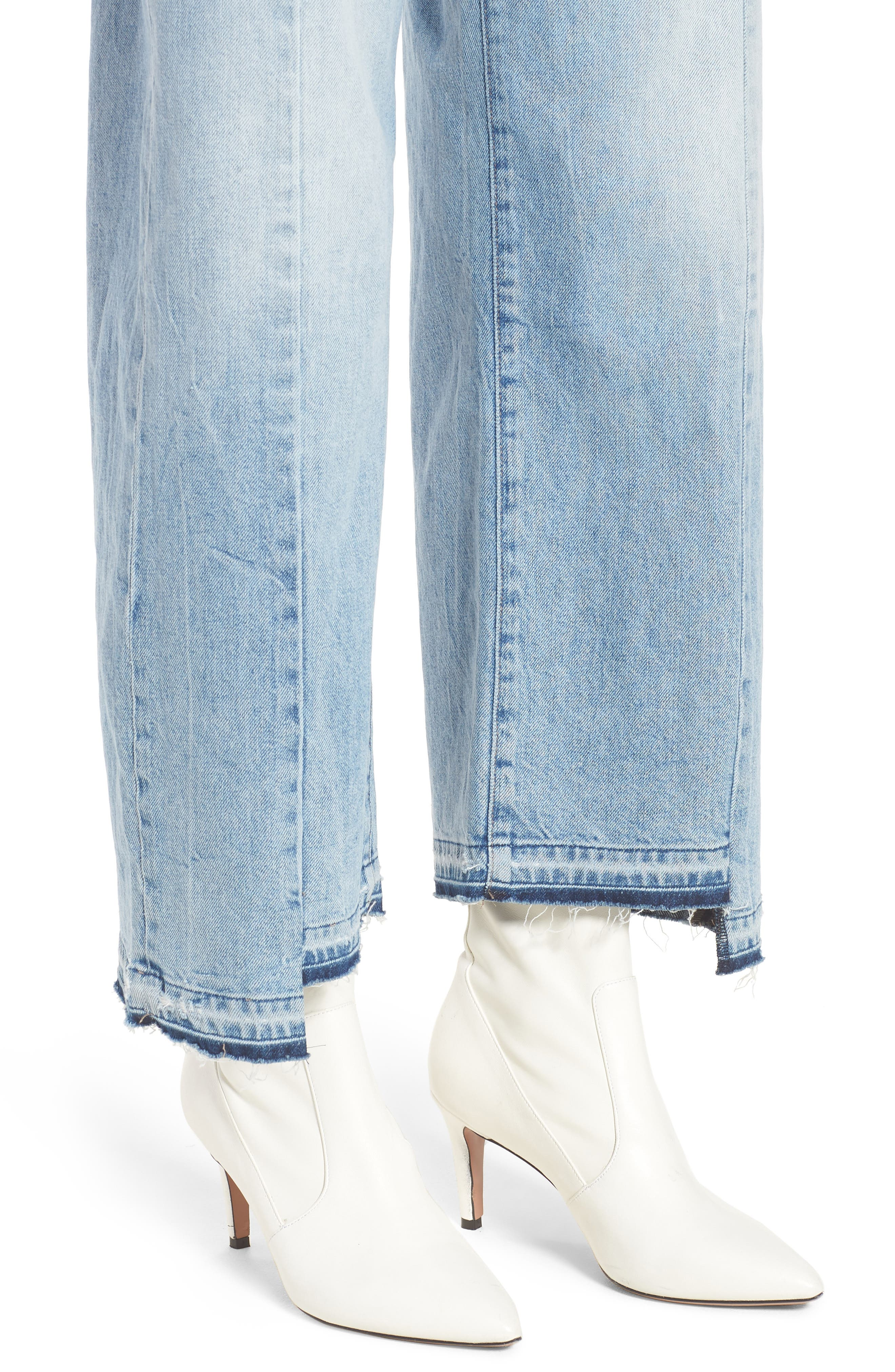 Hepburn High Waist Wide Leg Jeans,                             Alternate thumbnail 6, color,                             Oldtown