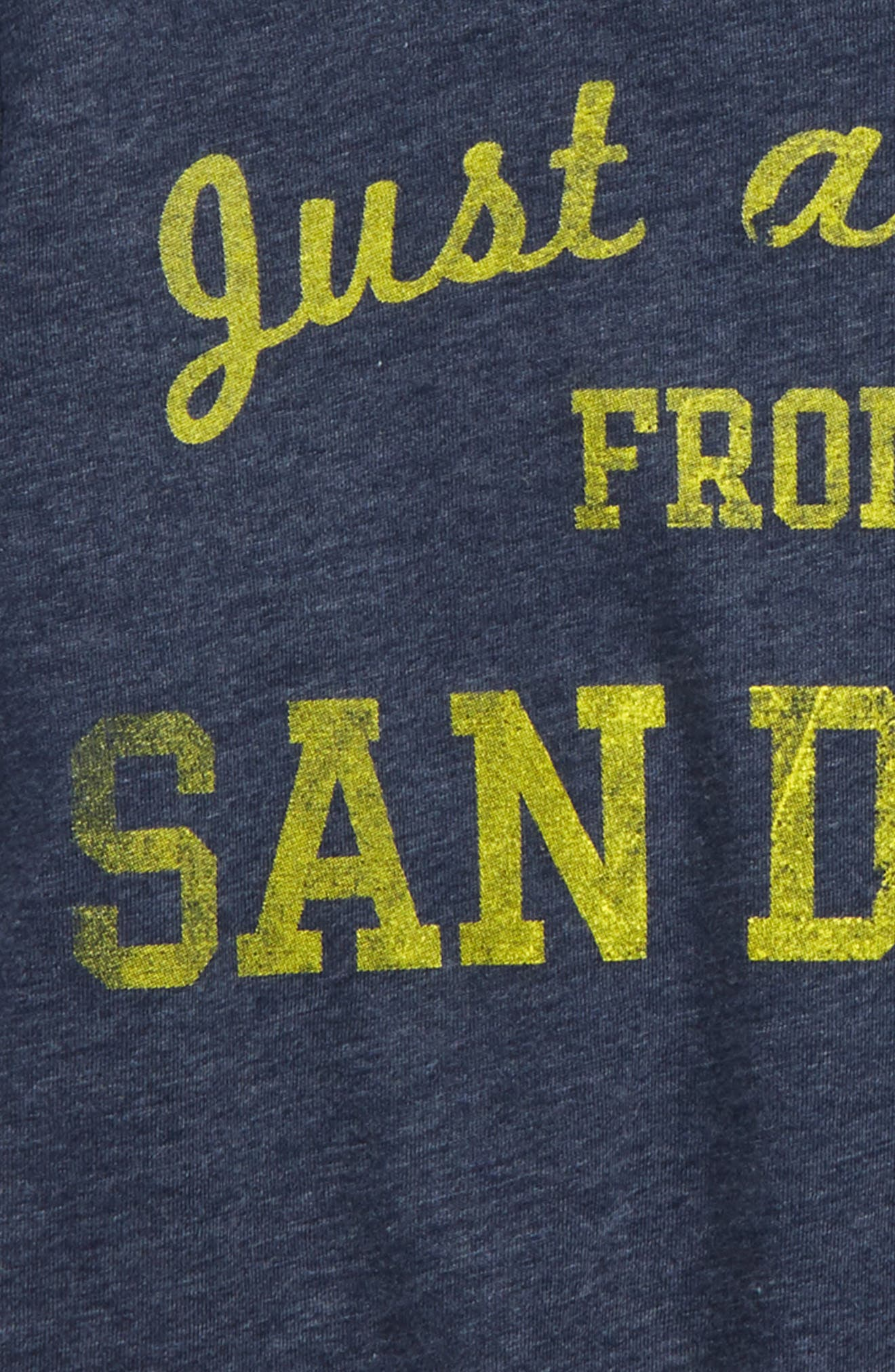 Just a Kid from San Diego Graphic T-Shirt,                             Alternate thumbnail 2, color,                             Navy/ Gold