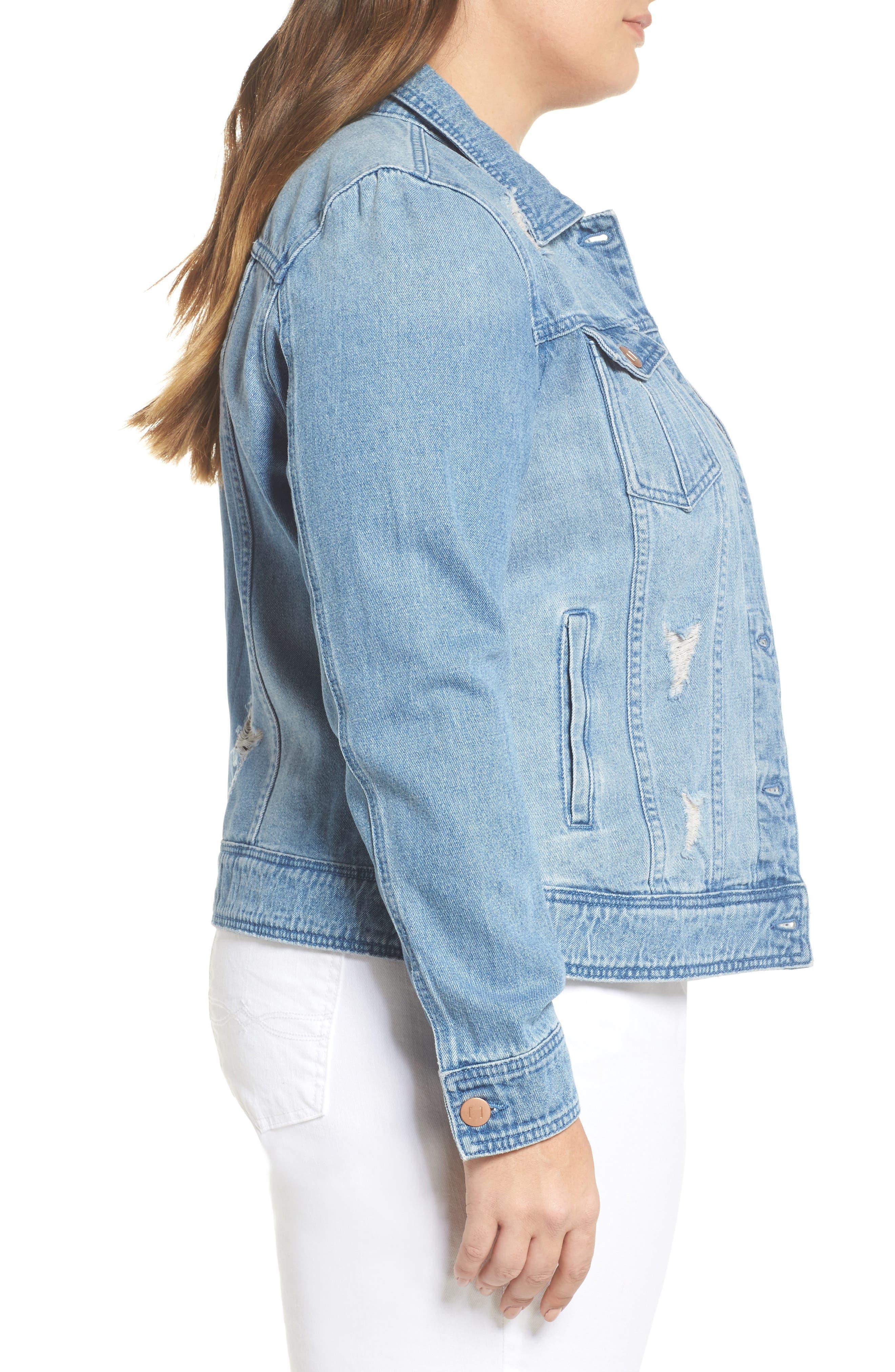 Alternate Image 3  - JUNAROSE Altala Denim Jacket (Plus Size)