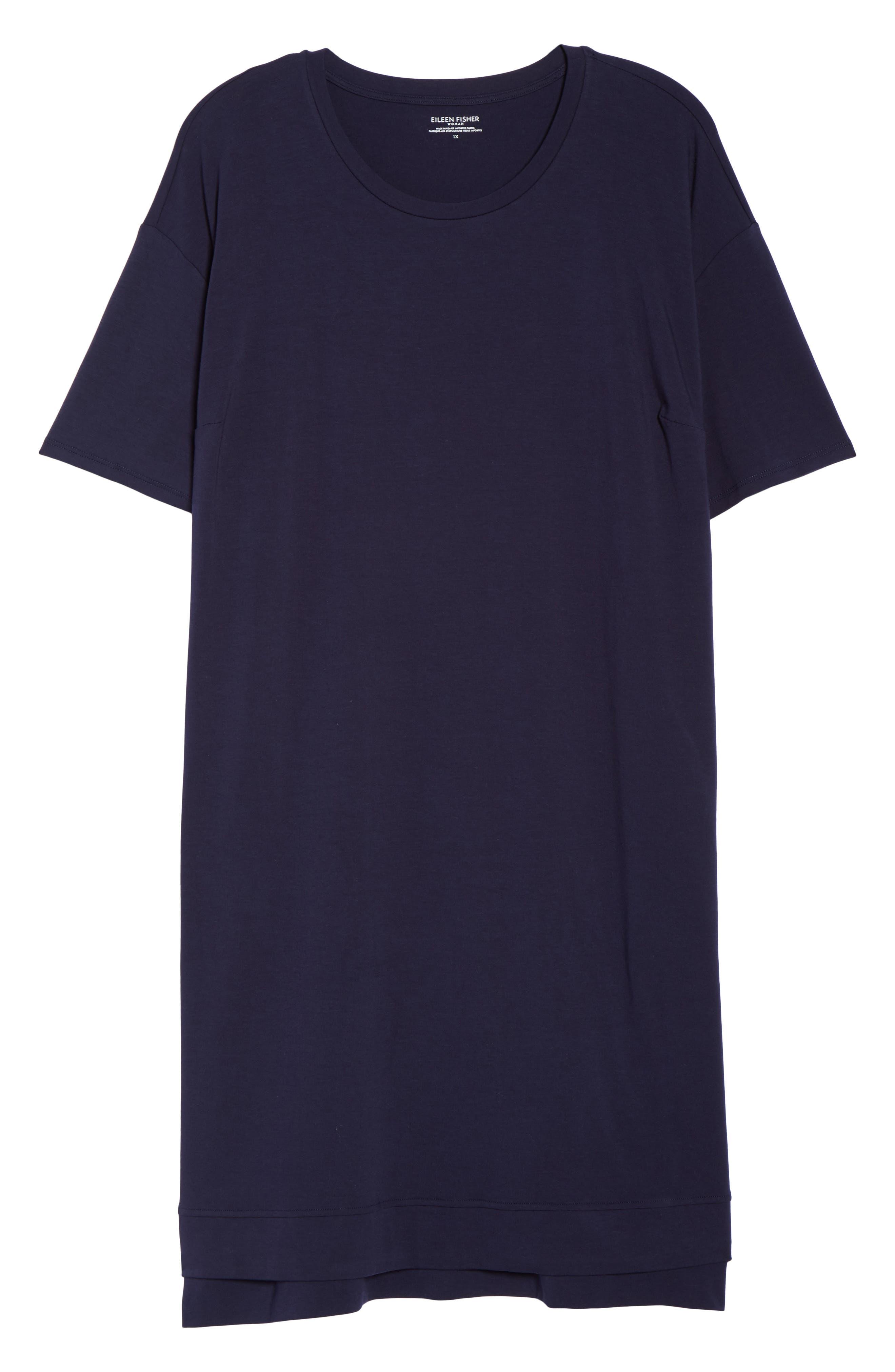 Knit Jersey Dress,                             Alternate thumbnail 6, color,                             Midnight