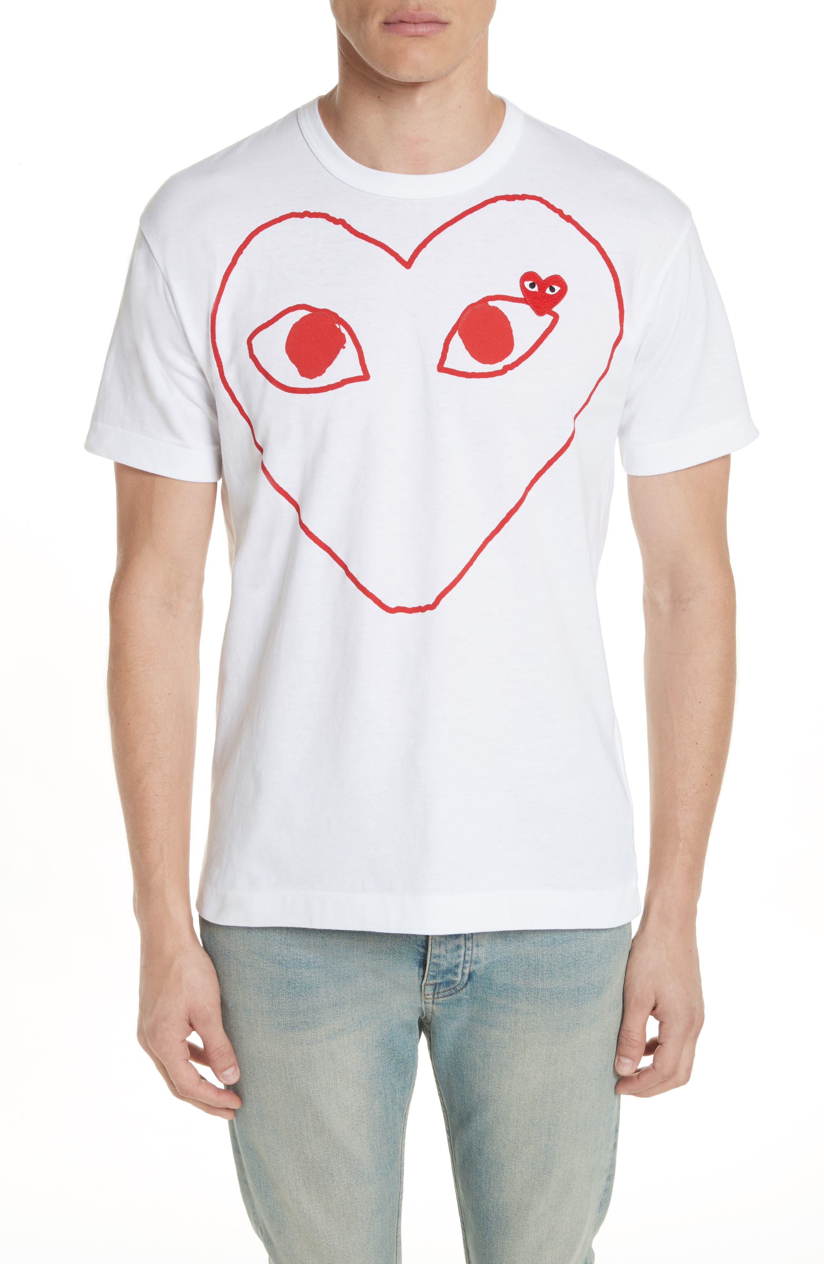 Comme des Garçons Outline Heart Graphic T-Shirt