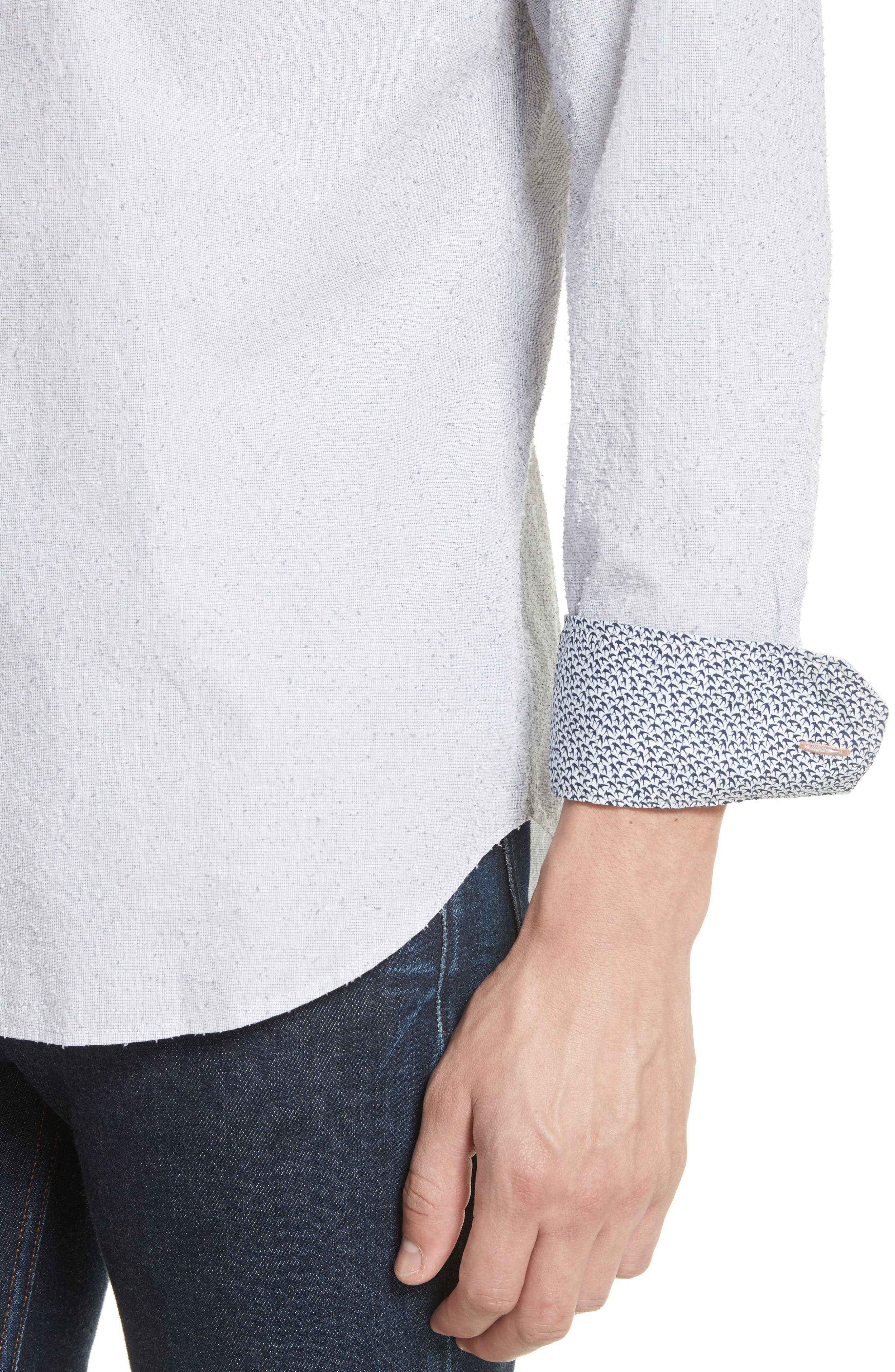 Nep Dot Woven Shirt,                             Alternate thumbnail 2, color,                             Blue