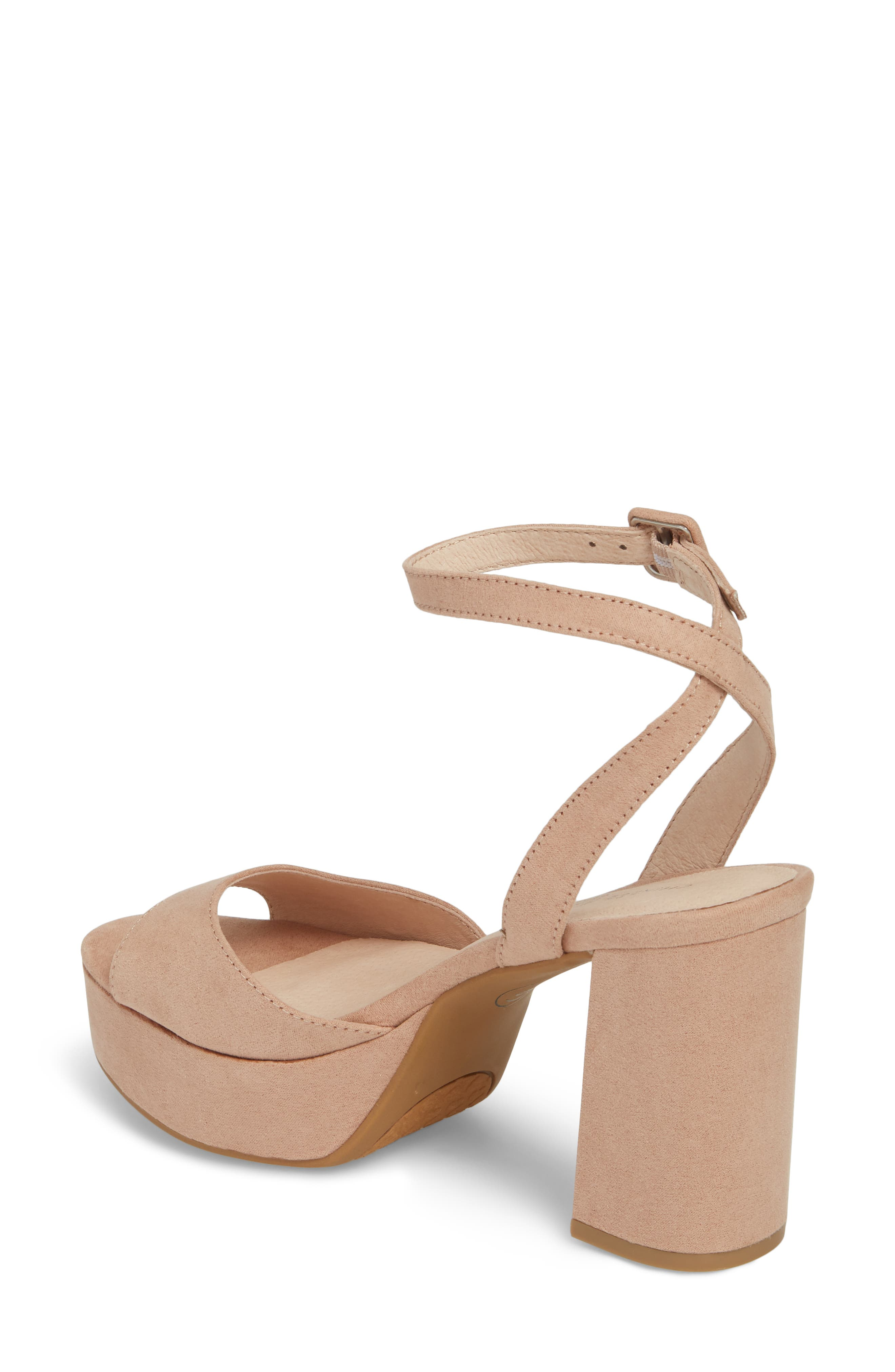Theresa Platform Sandal,                             Alternate thumbnail 2, color,                             Dark Nude
