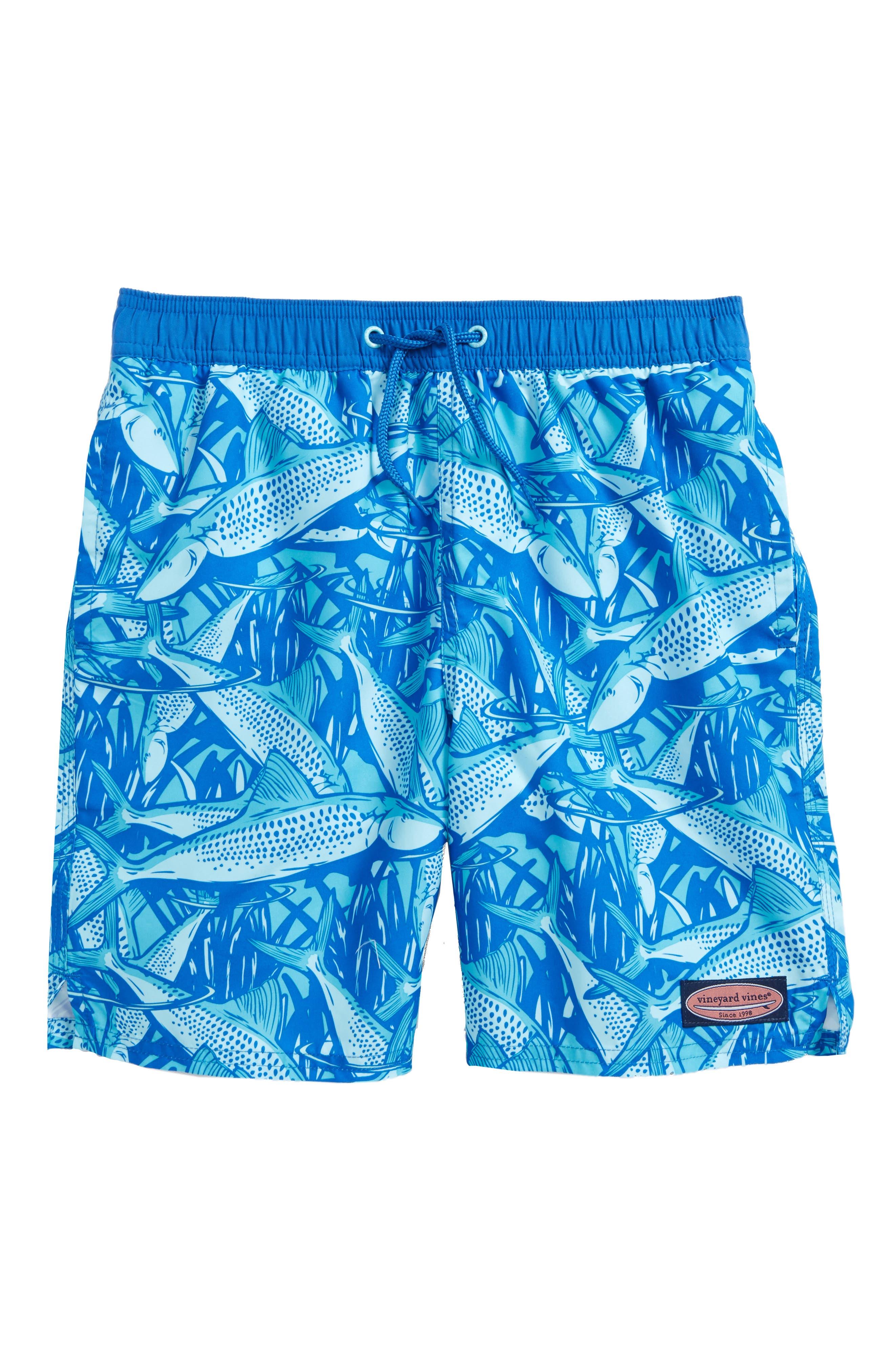 Chappy Bonefish Swim Trunks,                         Main,                         color, Turquoise