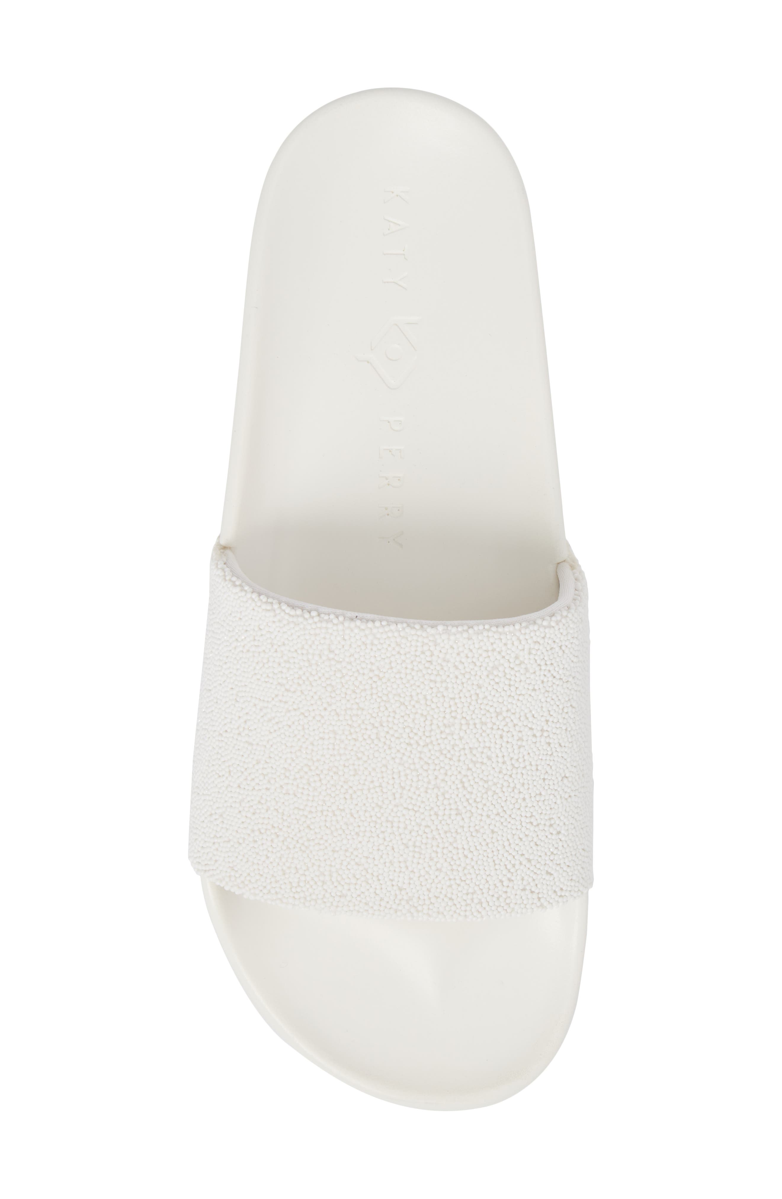 The Jimmi Slide Sandal,                             Alternate thumbnail 5, color,                             White