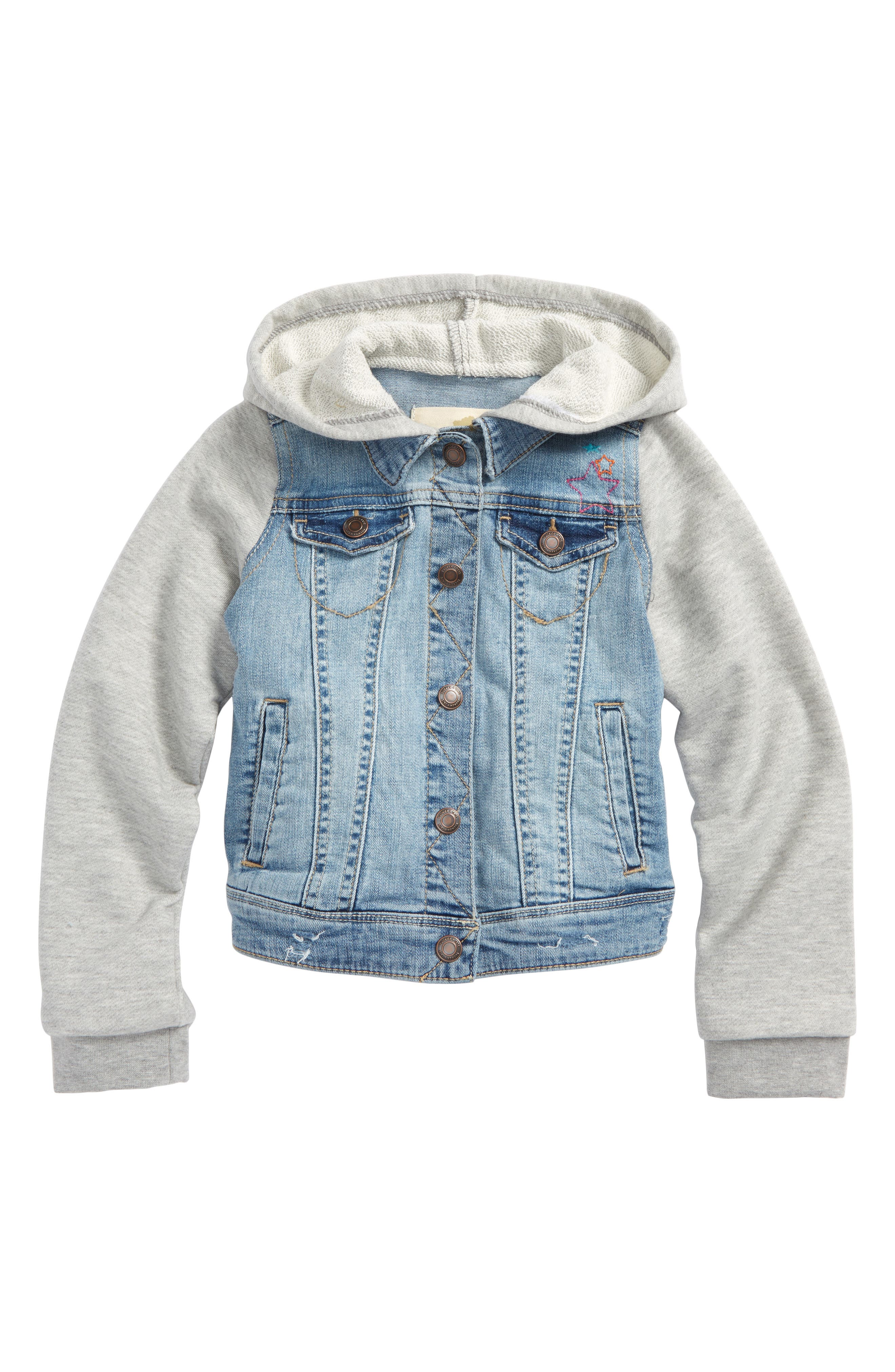 Tucker + Tate Embellished Hooded Denim Jacket (Toddler Girls, Little Girls & Big Girls)