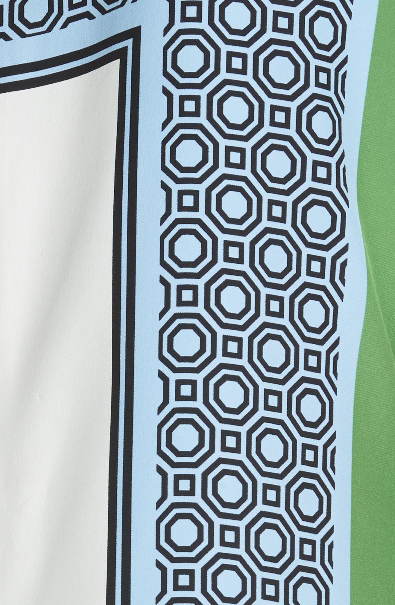 Mallory Silk Dress,                             Alternate thumbnail 5, color,                             Light Chambray