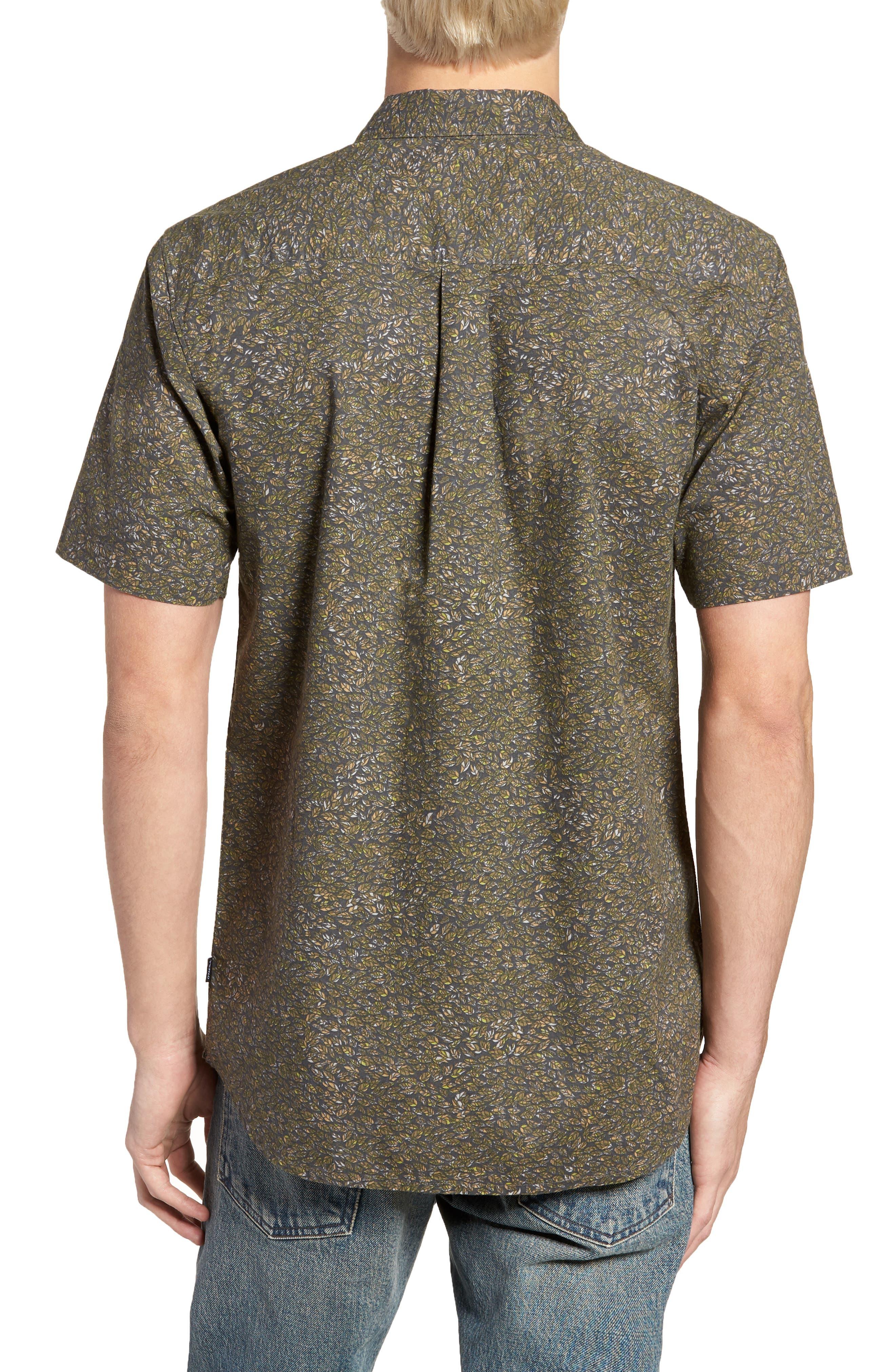 Livingston Short Sleeve Shirt,                             Alternate thumbnail 3, color,                             Asphalt