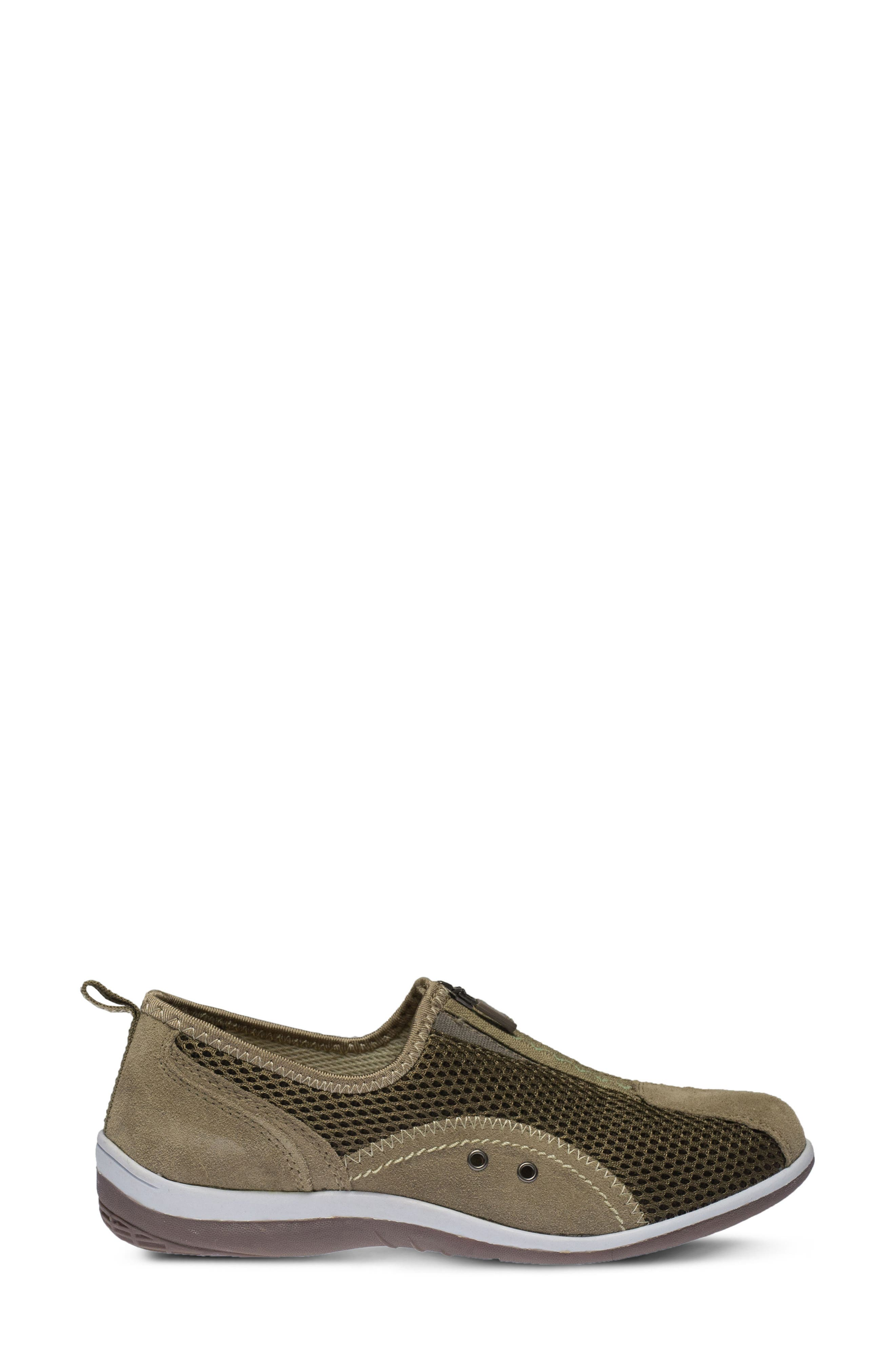 Racer Slip-On Sneaker,                             Alternate thumbnail 3, color,                             Taupe Suede