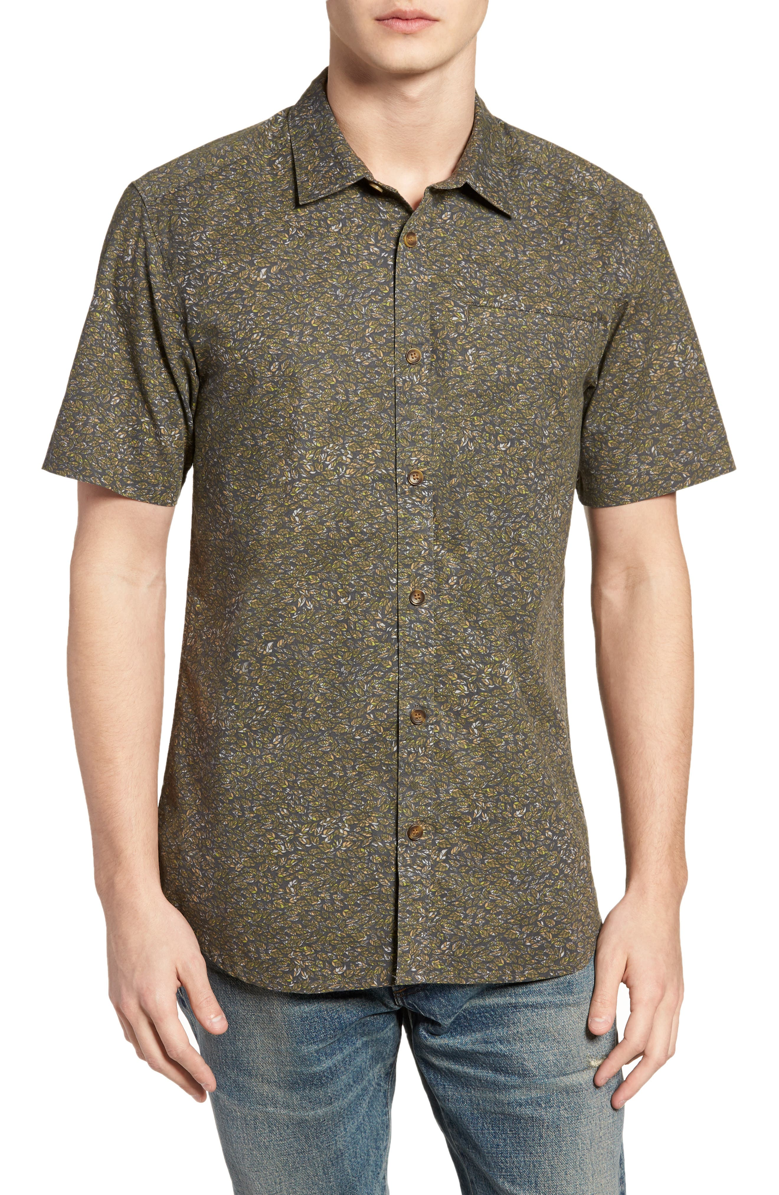 Livingston Short Sleeve Shirt,                         Main,                         color, Asphalt