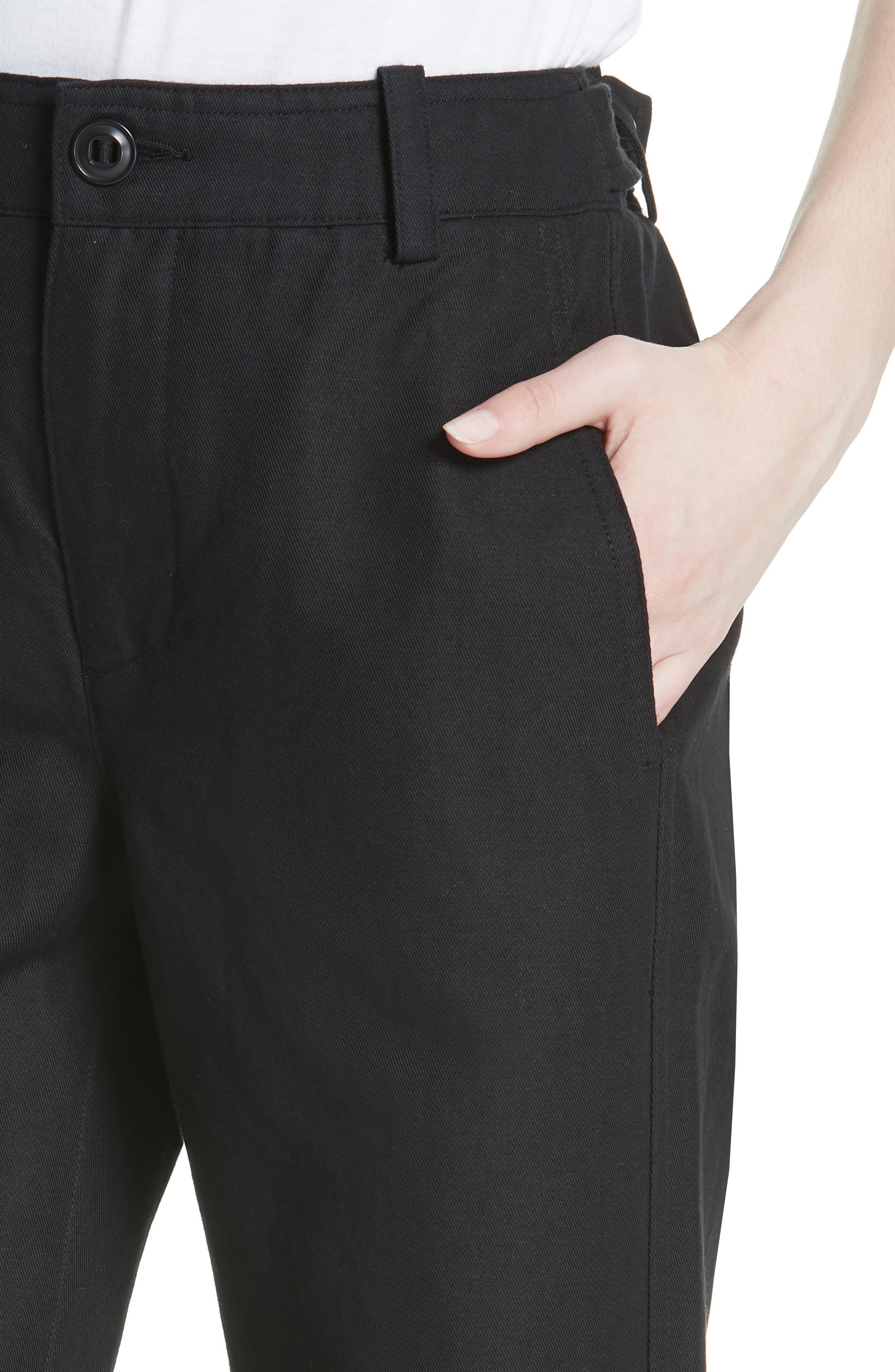 Alternate Image 4  - Vince High Rise Linen Blend Wide Leg Pants