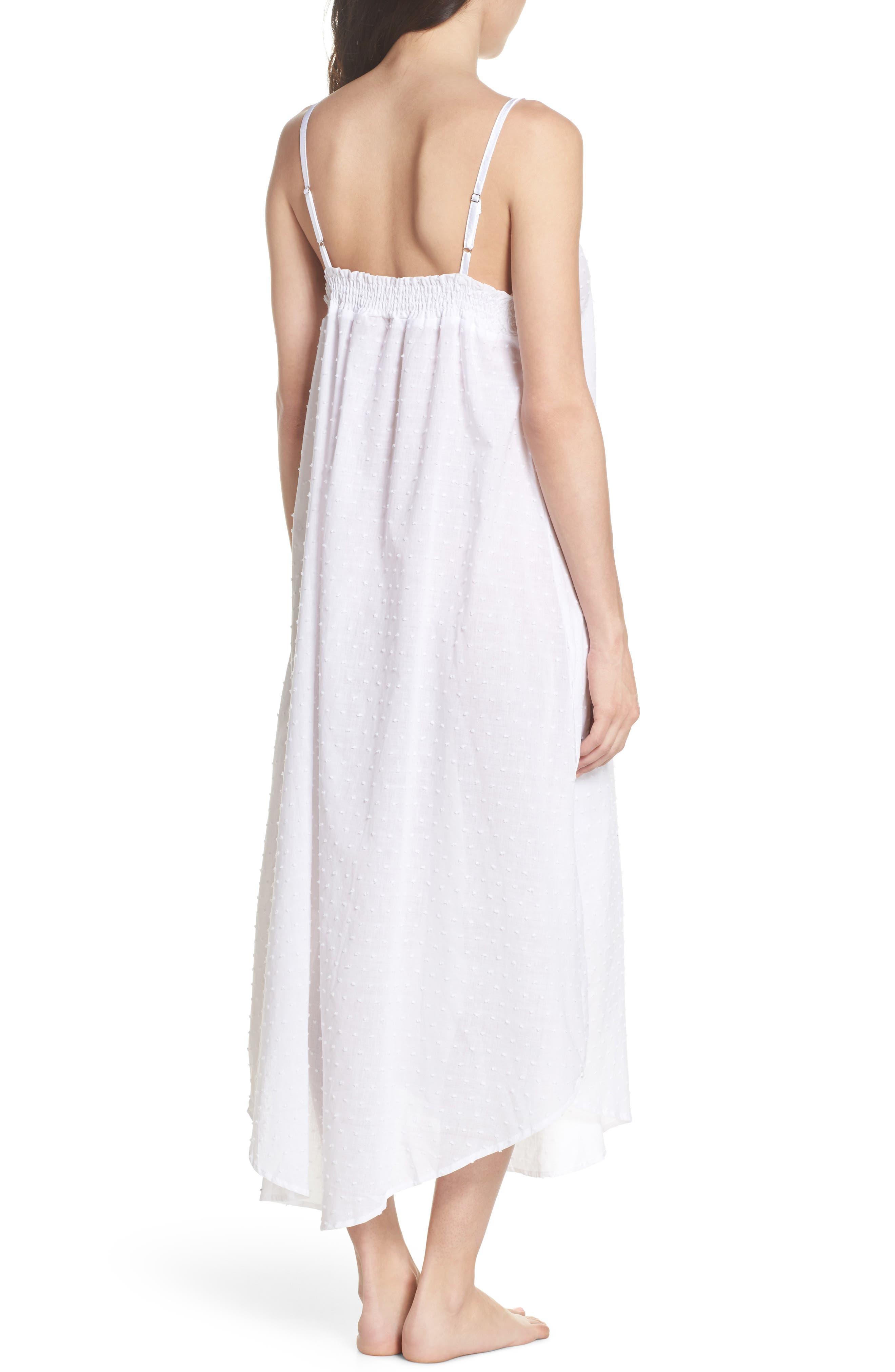 Swiss Dot Nightgown,                             Alternate thumbnail 2, color,                             White