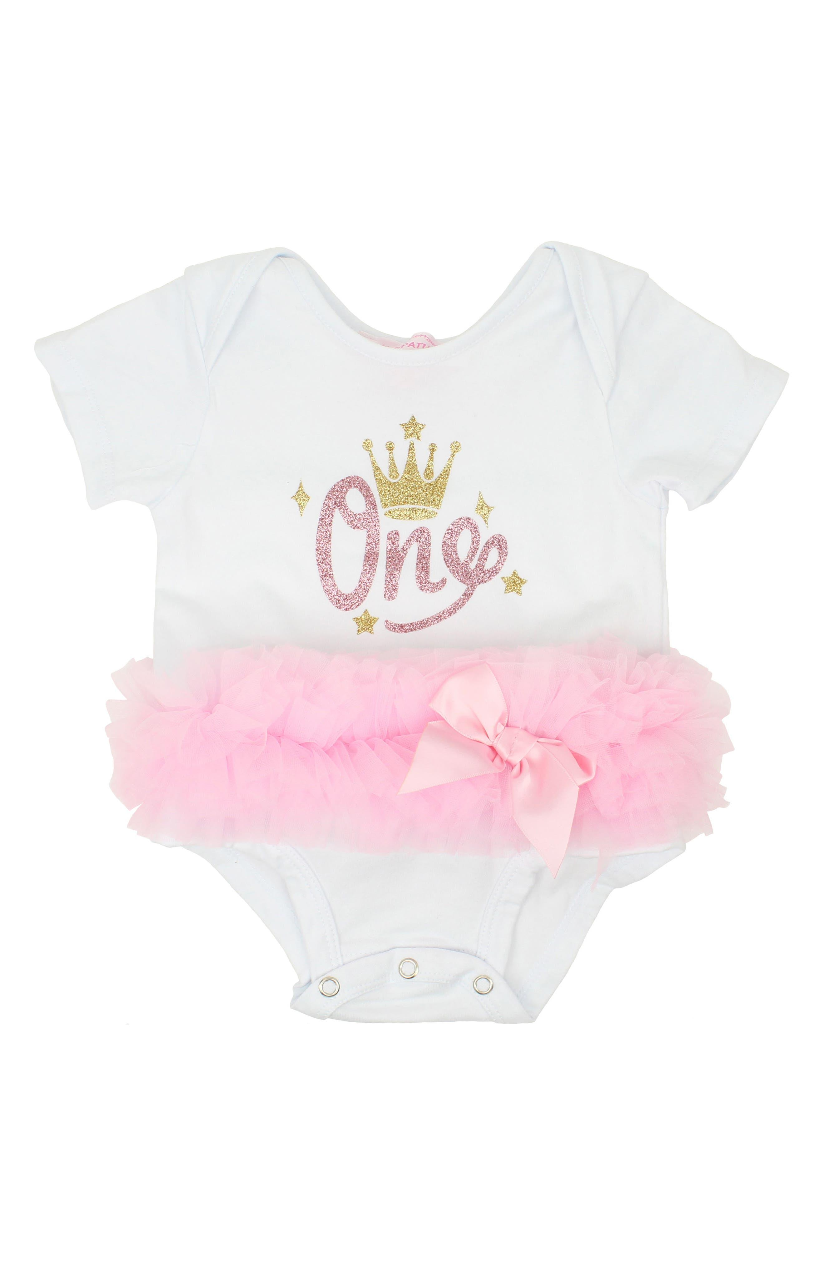 Popatu First Birthday Tutu Bodysuit (Baby Girls)