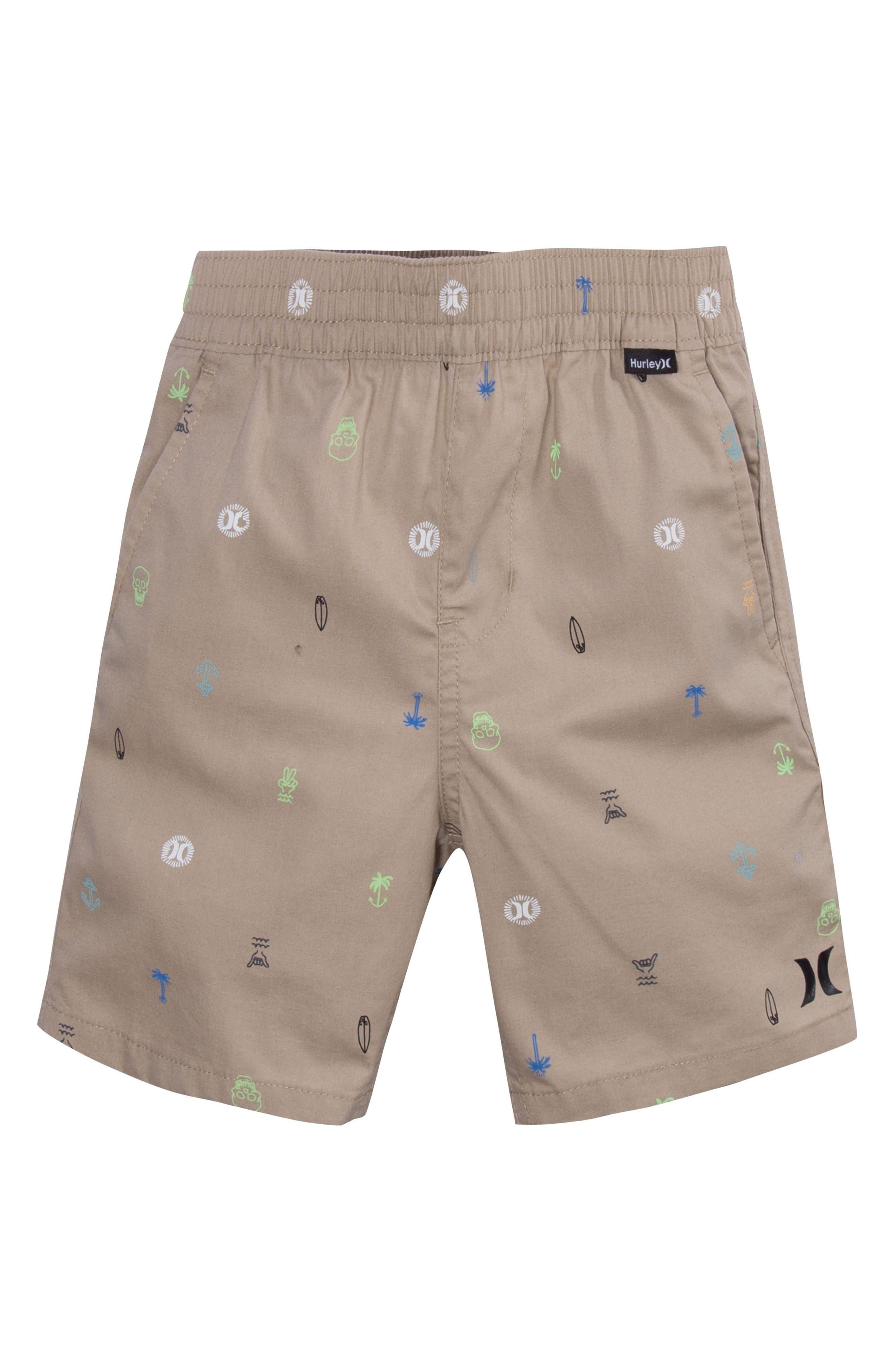 Main Image - Hurley Print Pull-On Shorts (Big Boys)