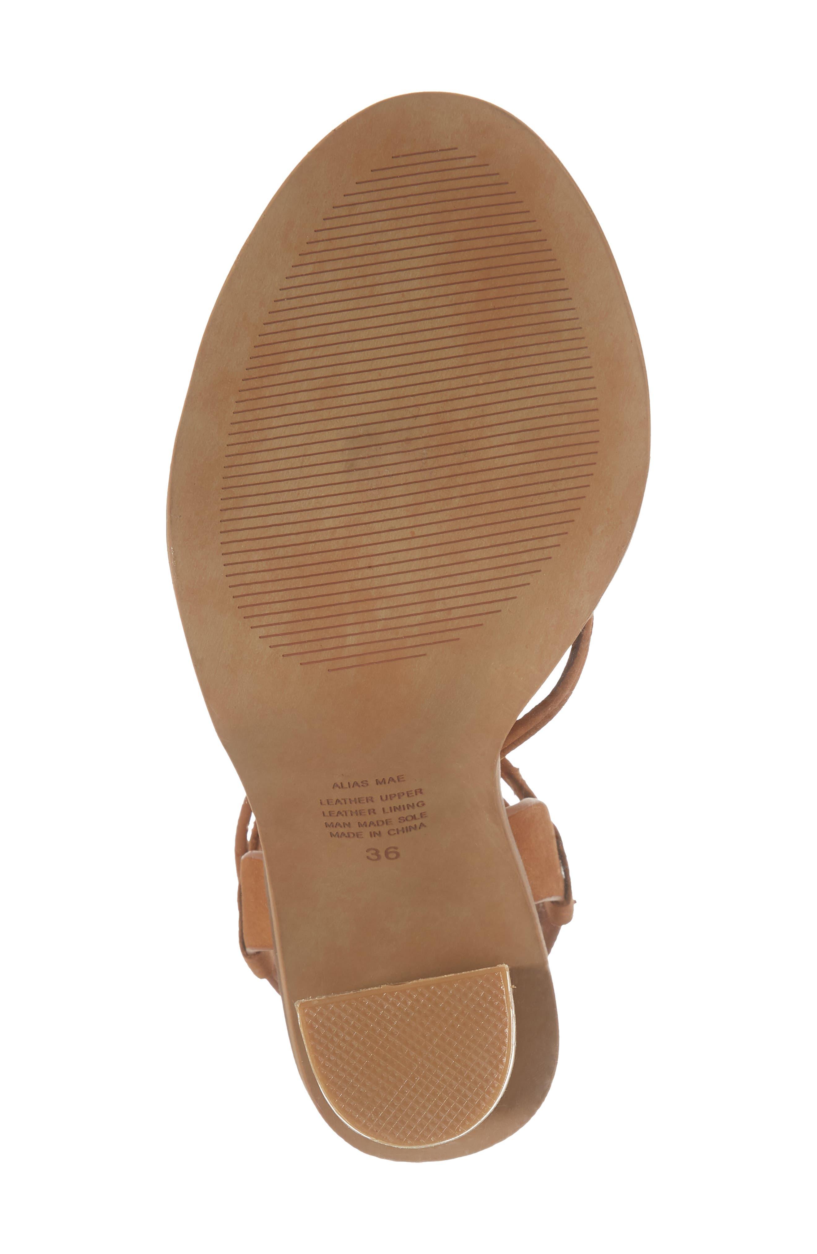 Adagio Sandal,                             Alternate thumbnail 6, color,                             Tan Leather