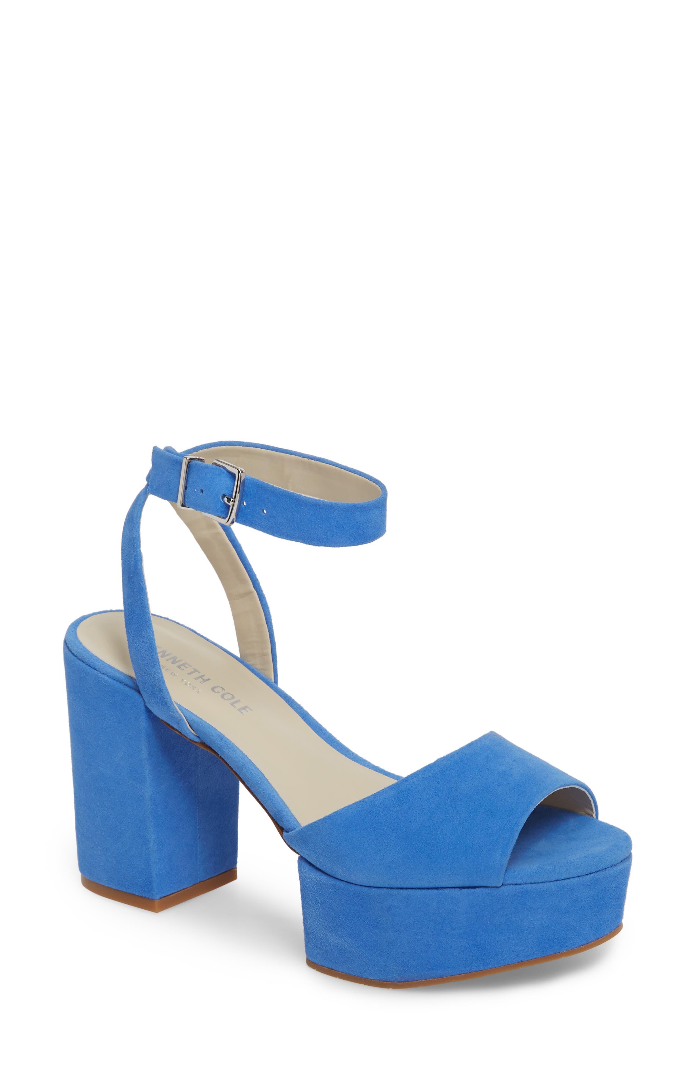 Pheonix Sandal,                         Main,                         color, Cerulean Suede