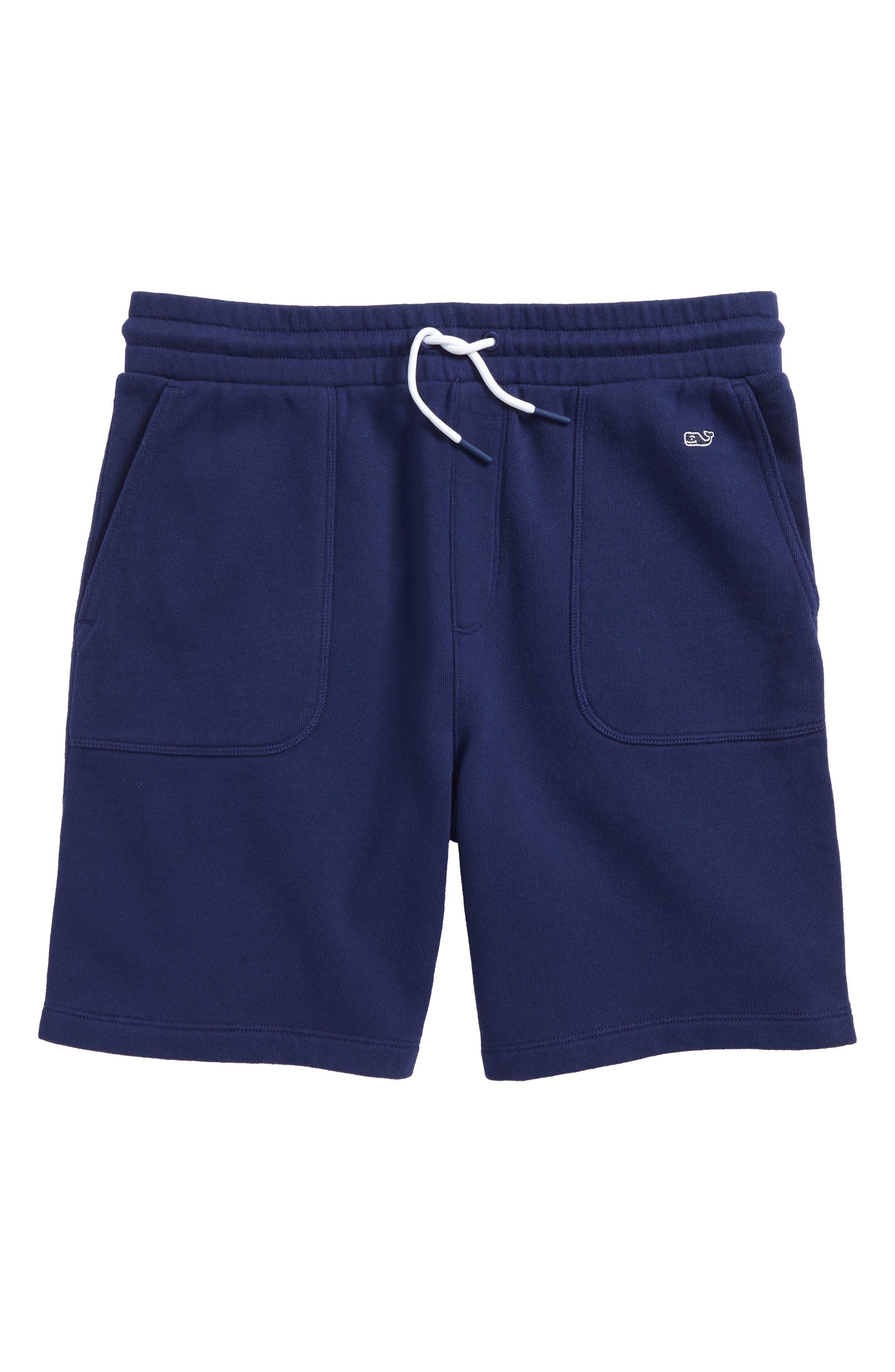 Garment Dyed Knit Shorts,                         Main,                         color, Deep Bay