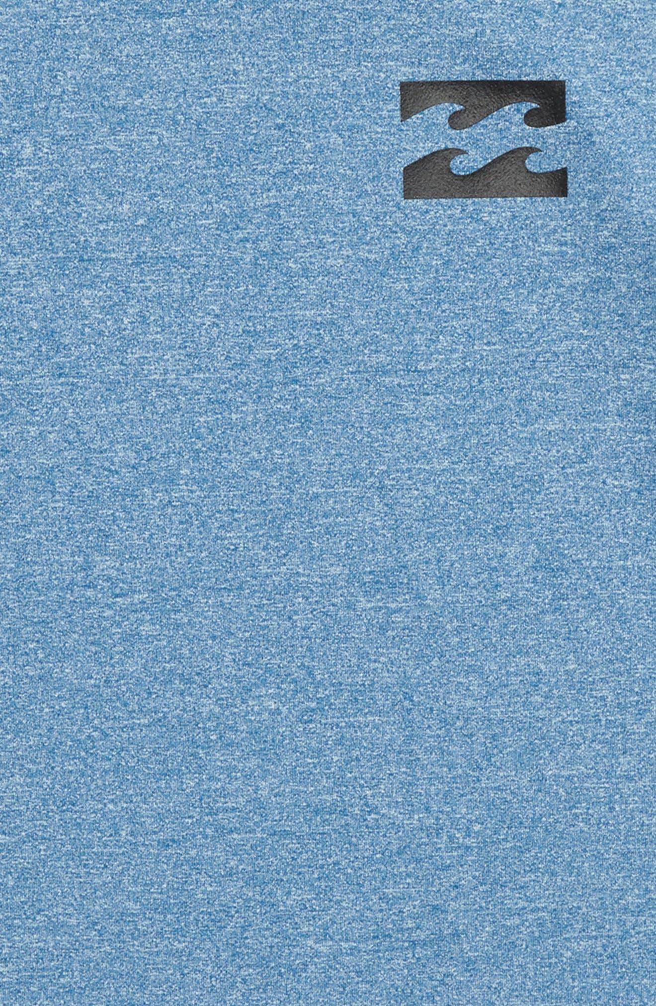Royal Long Sleeve Rashguard,                             Alternate thumbnail 2, color,                             Royal Heather