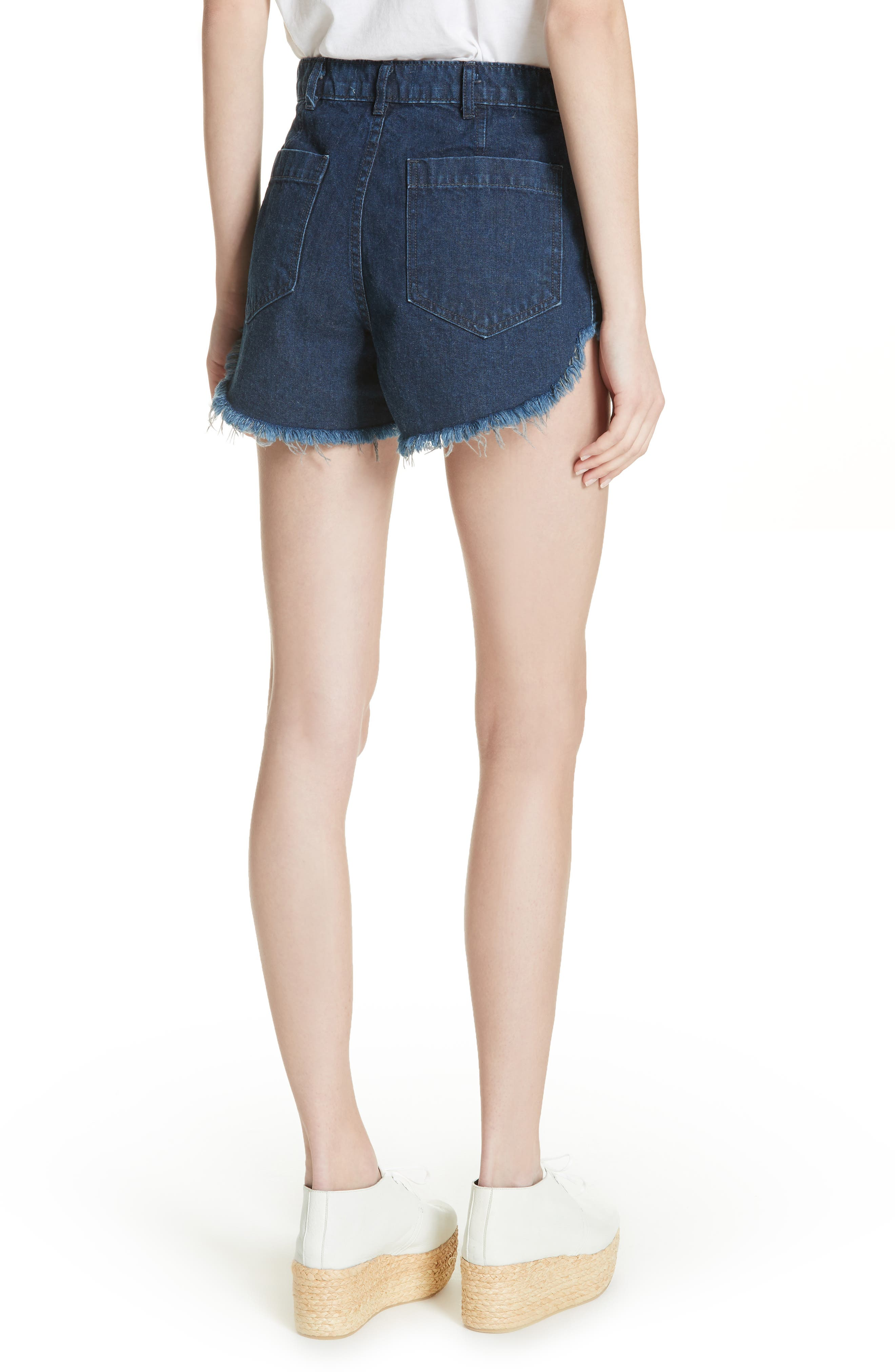 Sailor Denim Shorts,                             Alternate thumbnail 2, color,                             Ultra Marine Wash