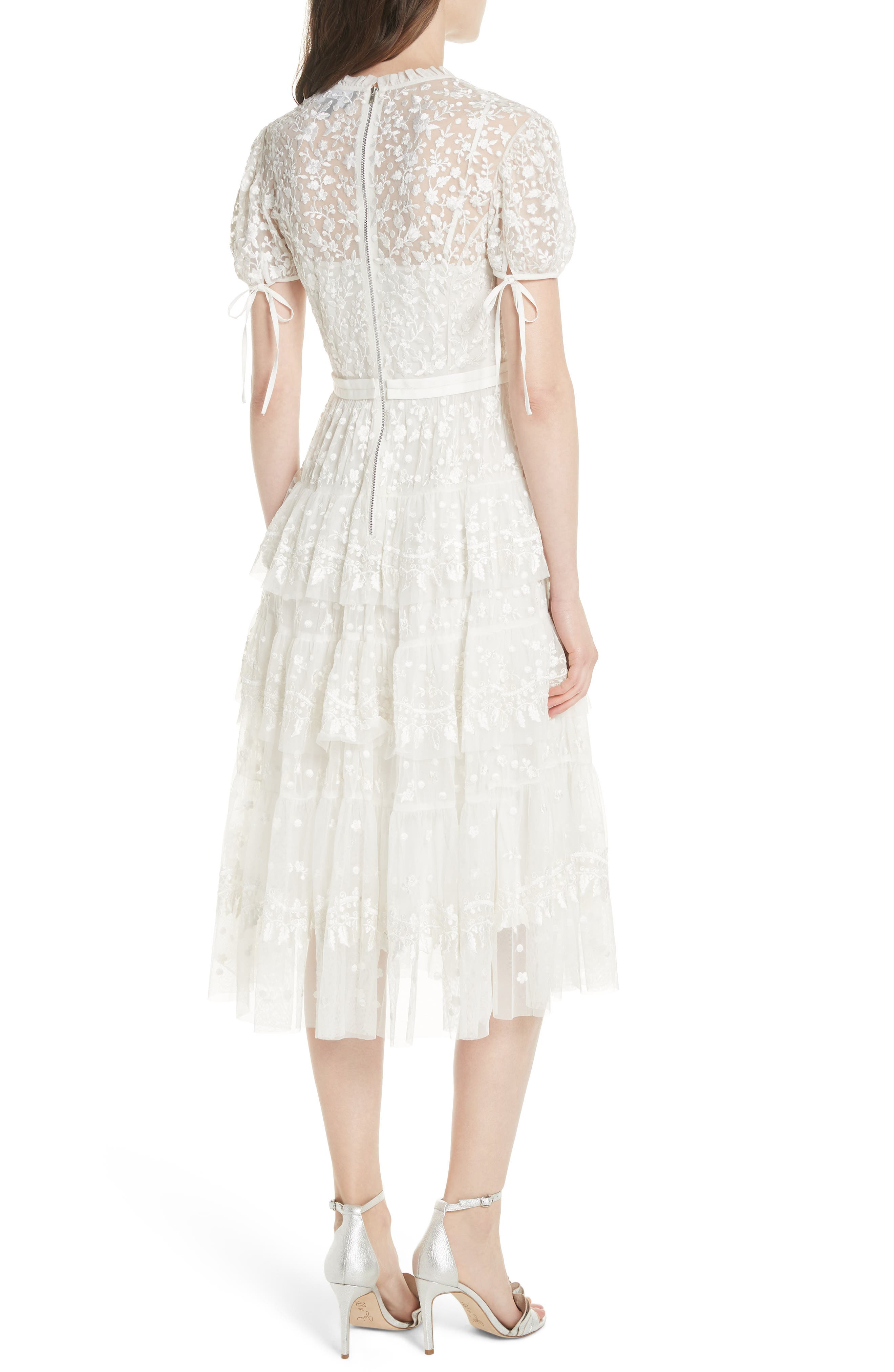 Layered Lace Dress,                             Alternate thumbnail 2, color,                             Ivory