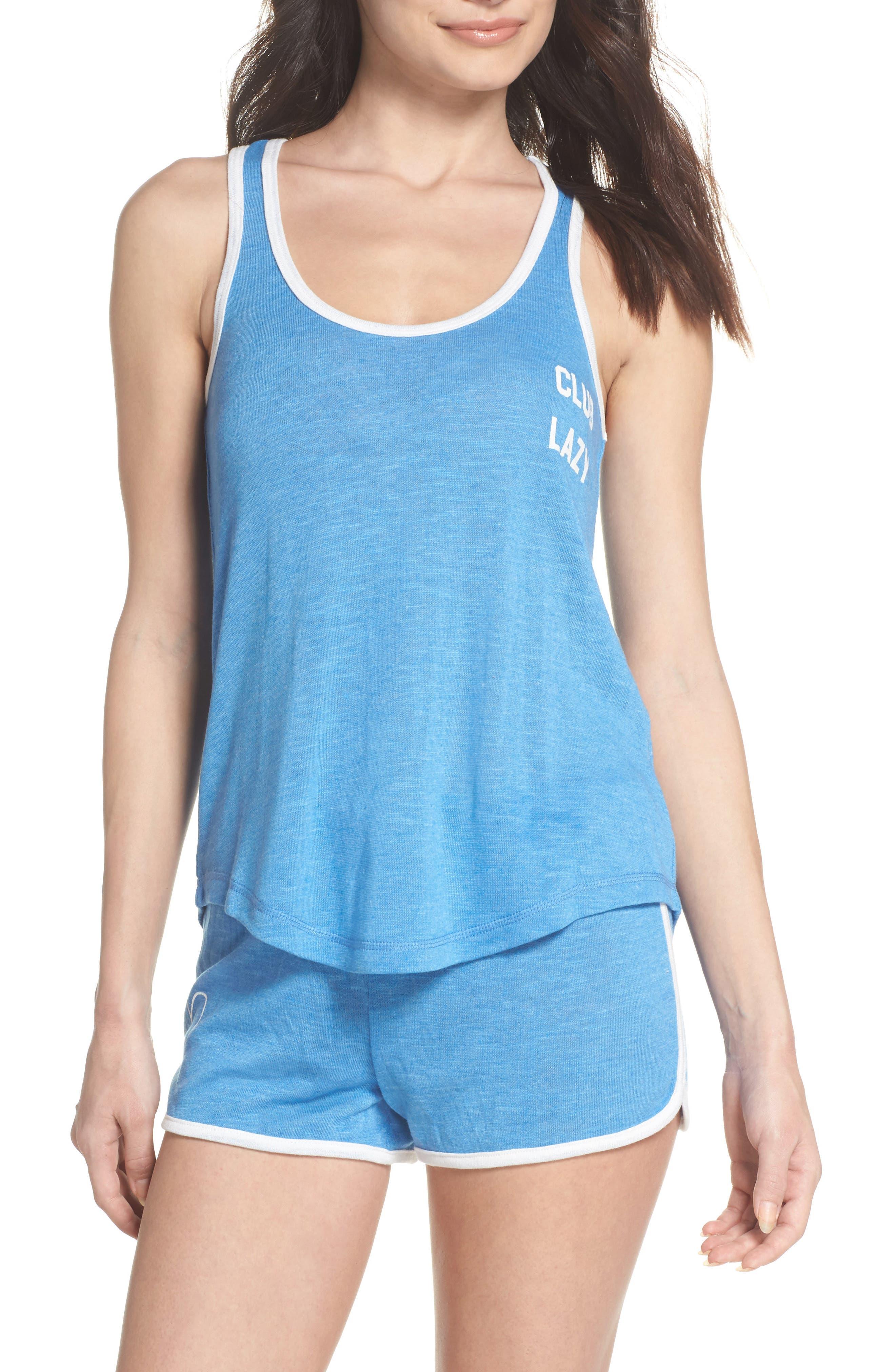 Short Pajamas,                         Main,                         color, Blue
