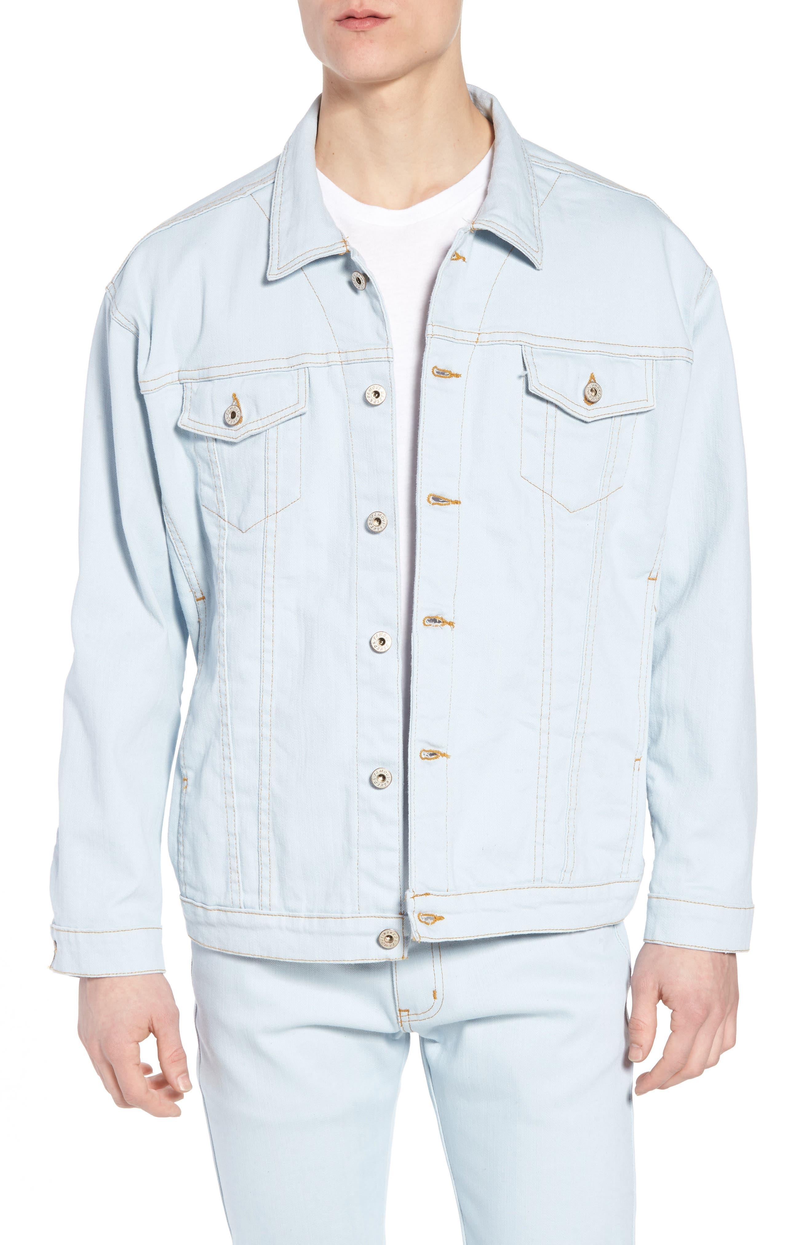 Oversize Jacket,                         Main,                         color, Powder Blue