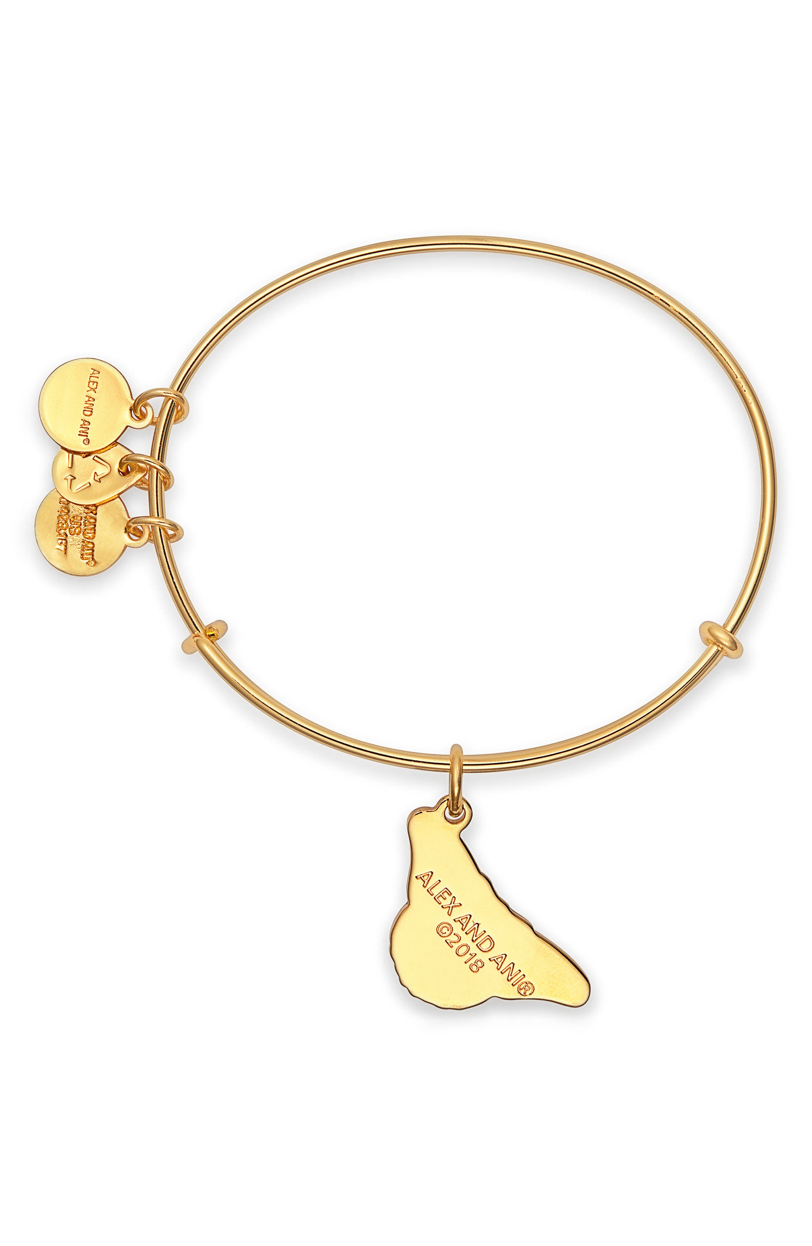 Charity by Design Monarch Butterfly Charm Bracelet,                             Alternate thumbnail 2, color,                             Gold