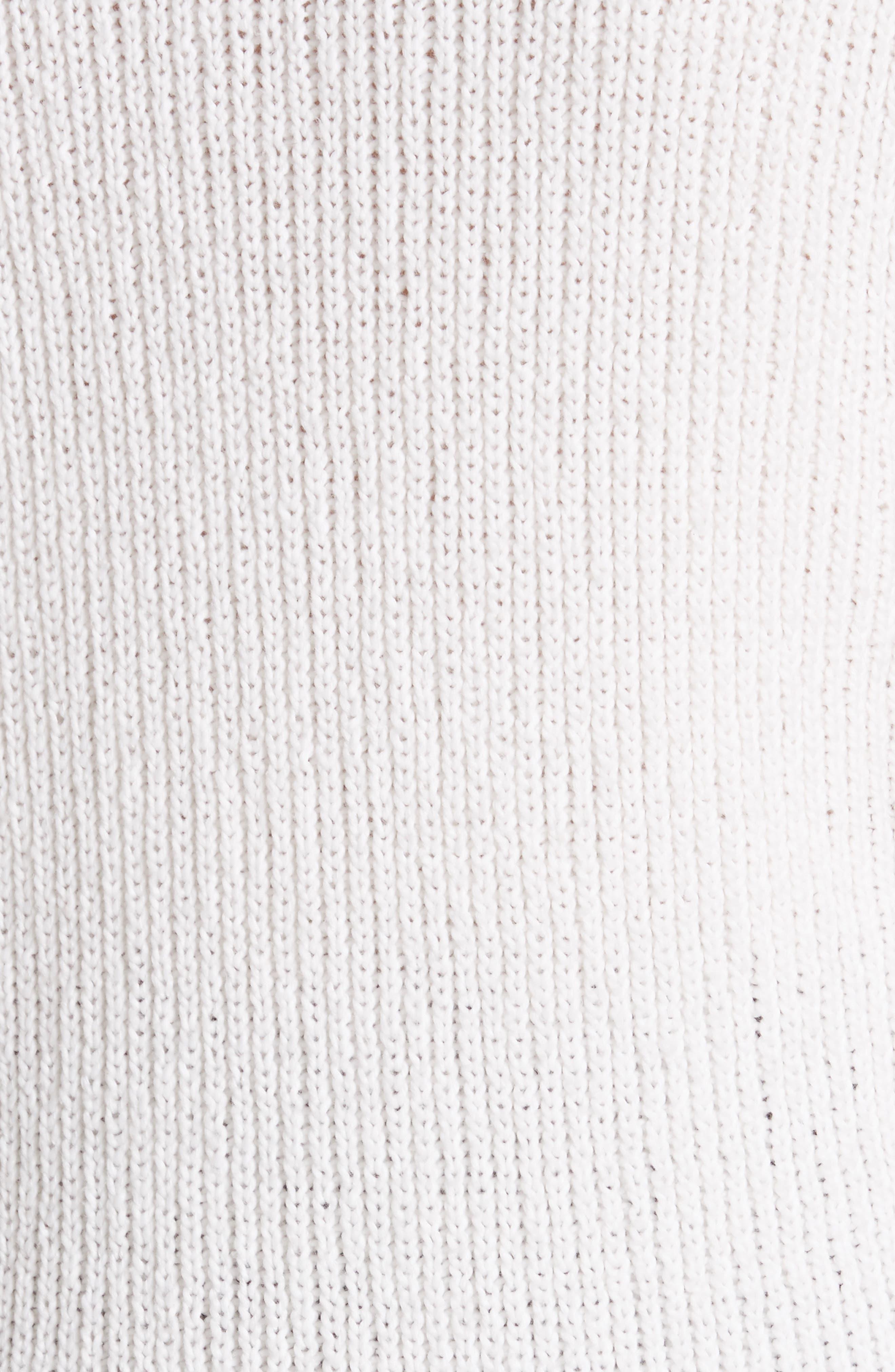 Nick Cotton Sweater,                             Alternate thumbnail 5, color,                             White
