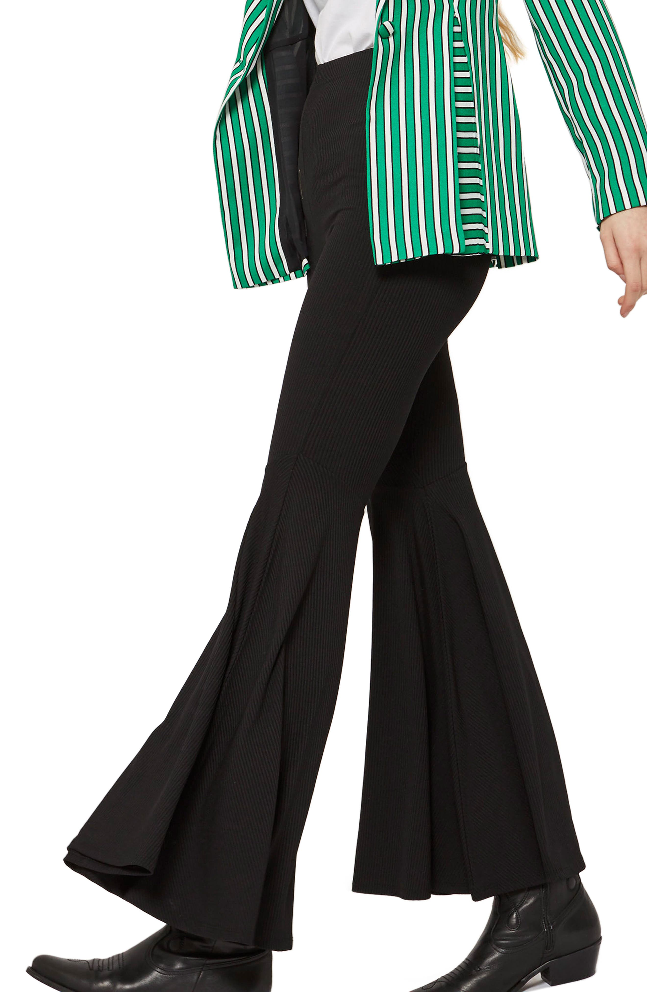 Extreme Flare Trousers,                         Main,                         color, Black