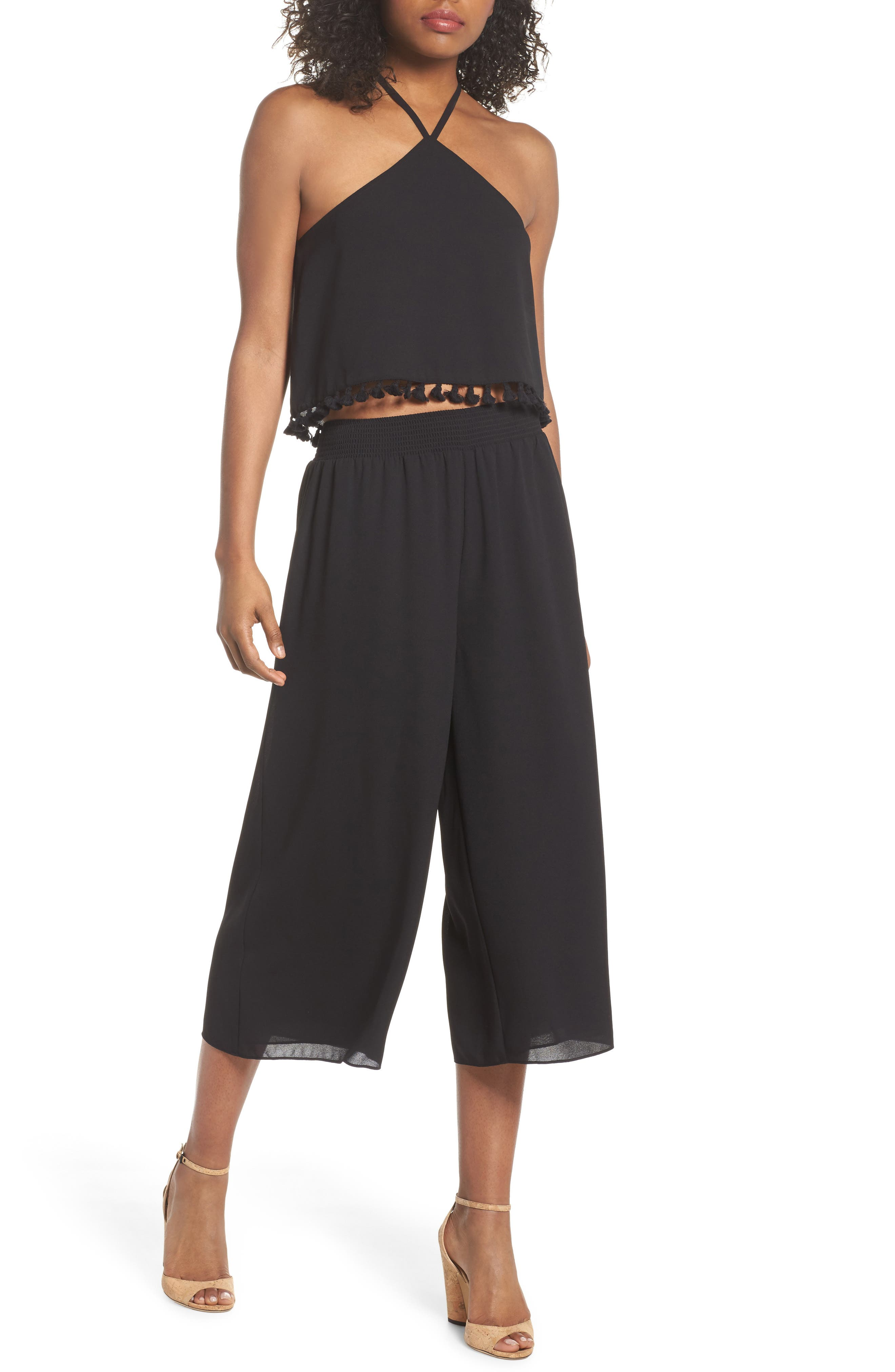 TWO-PIECE CROP JUMPSUIT