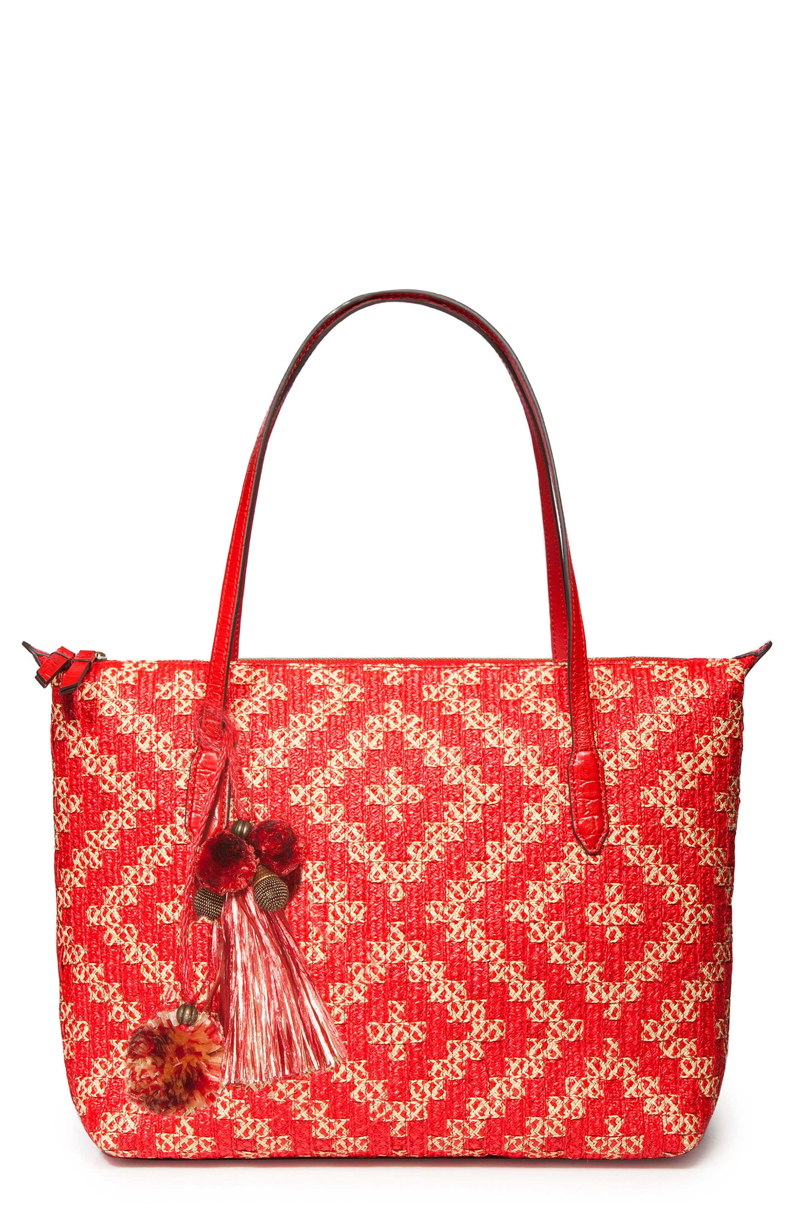 Charma Squishee<sup>®</sup> Tote,                             Main thumbnail 1, color,                             Red Mix