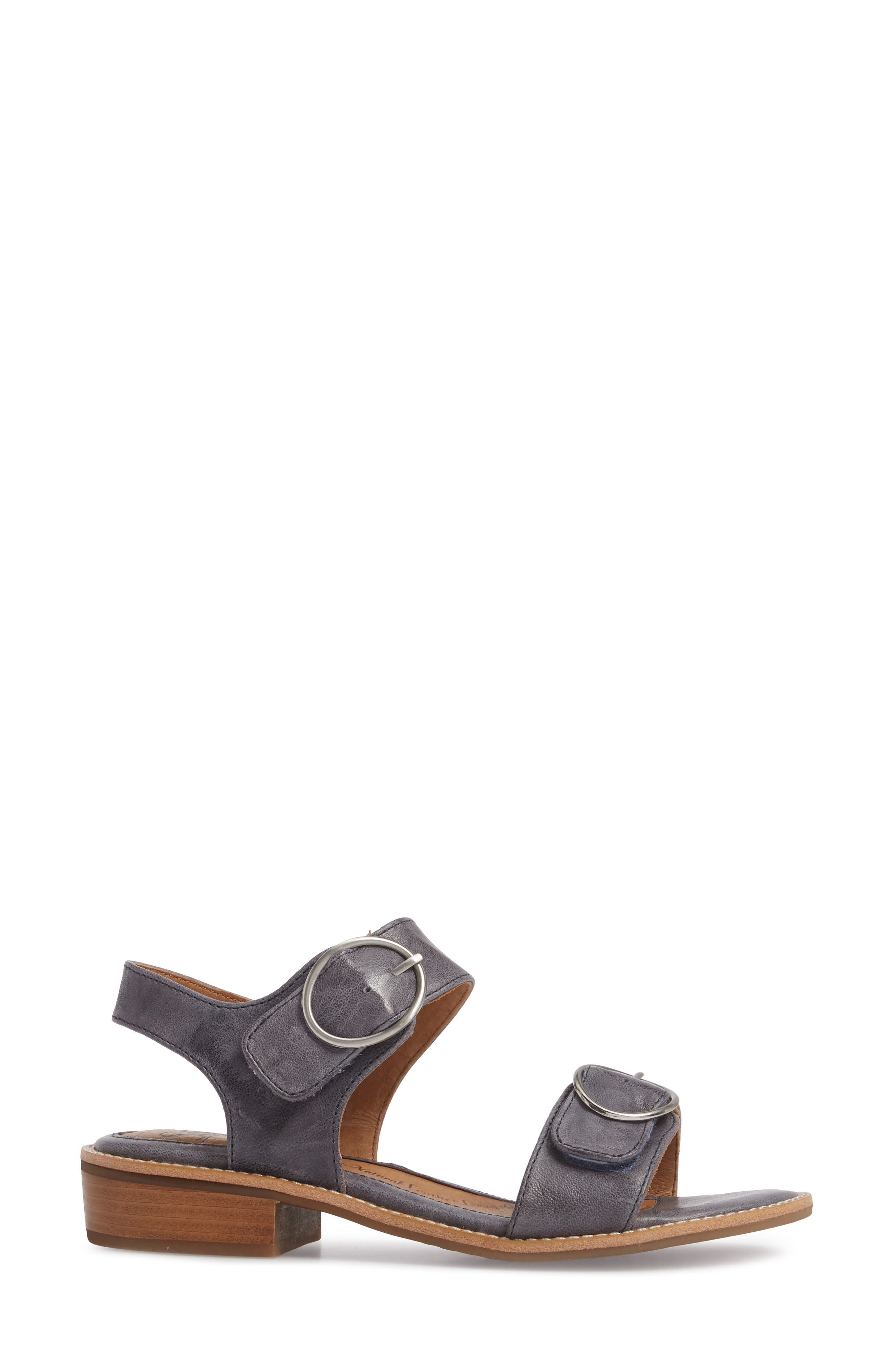 Nerissa Sandal,                             Alternate thumbnail 3, color,                             Chambray Leather